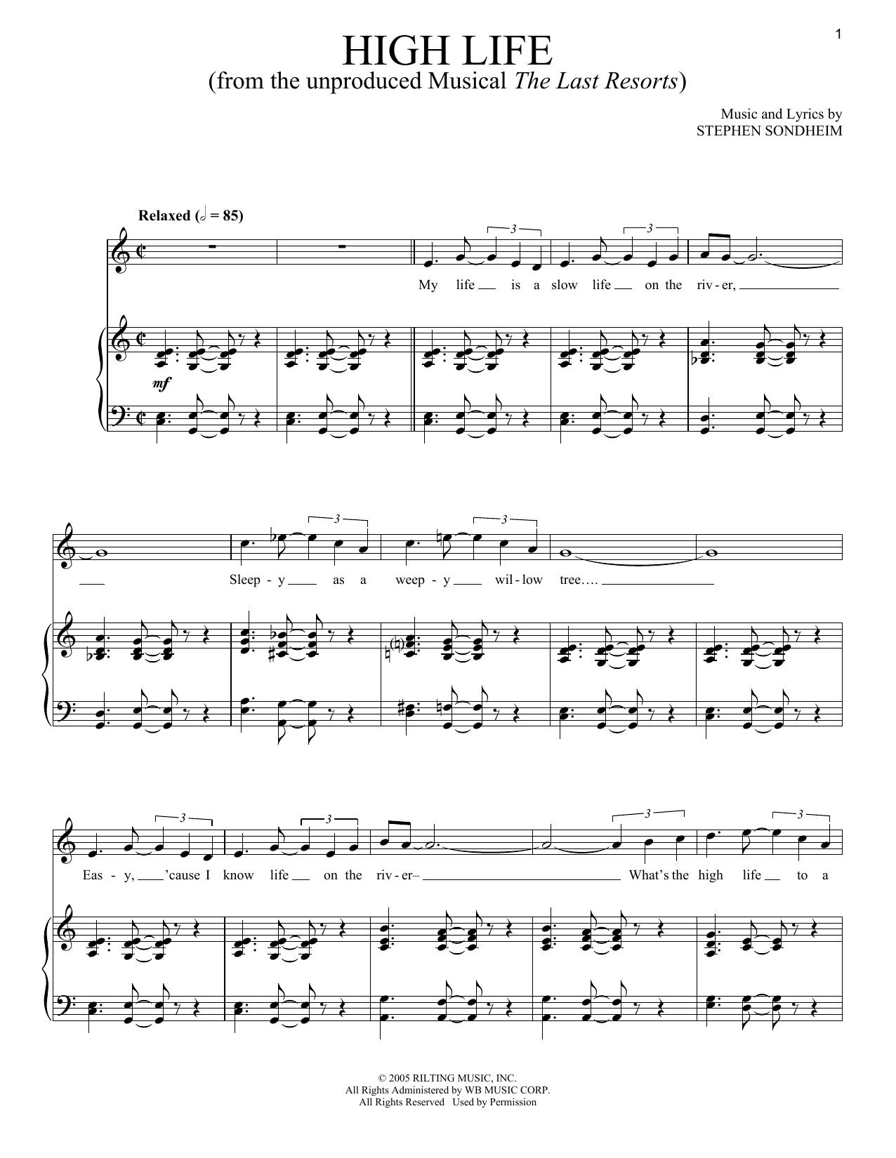 High Life (Piano & Vocal)