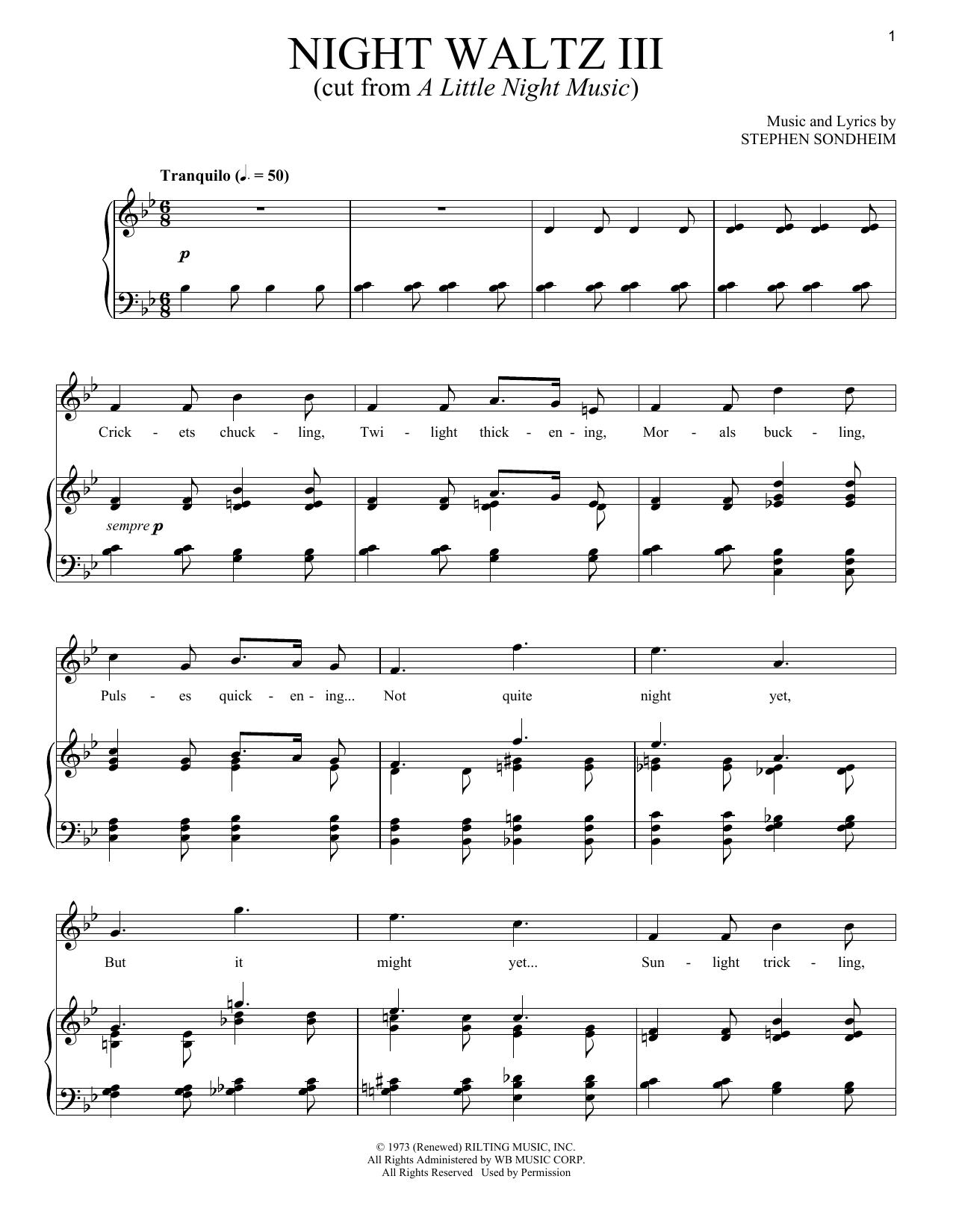 Night Waltz III (Piano & Vocal)