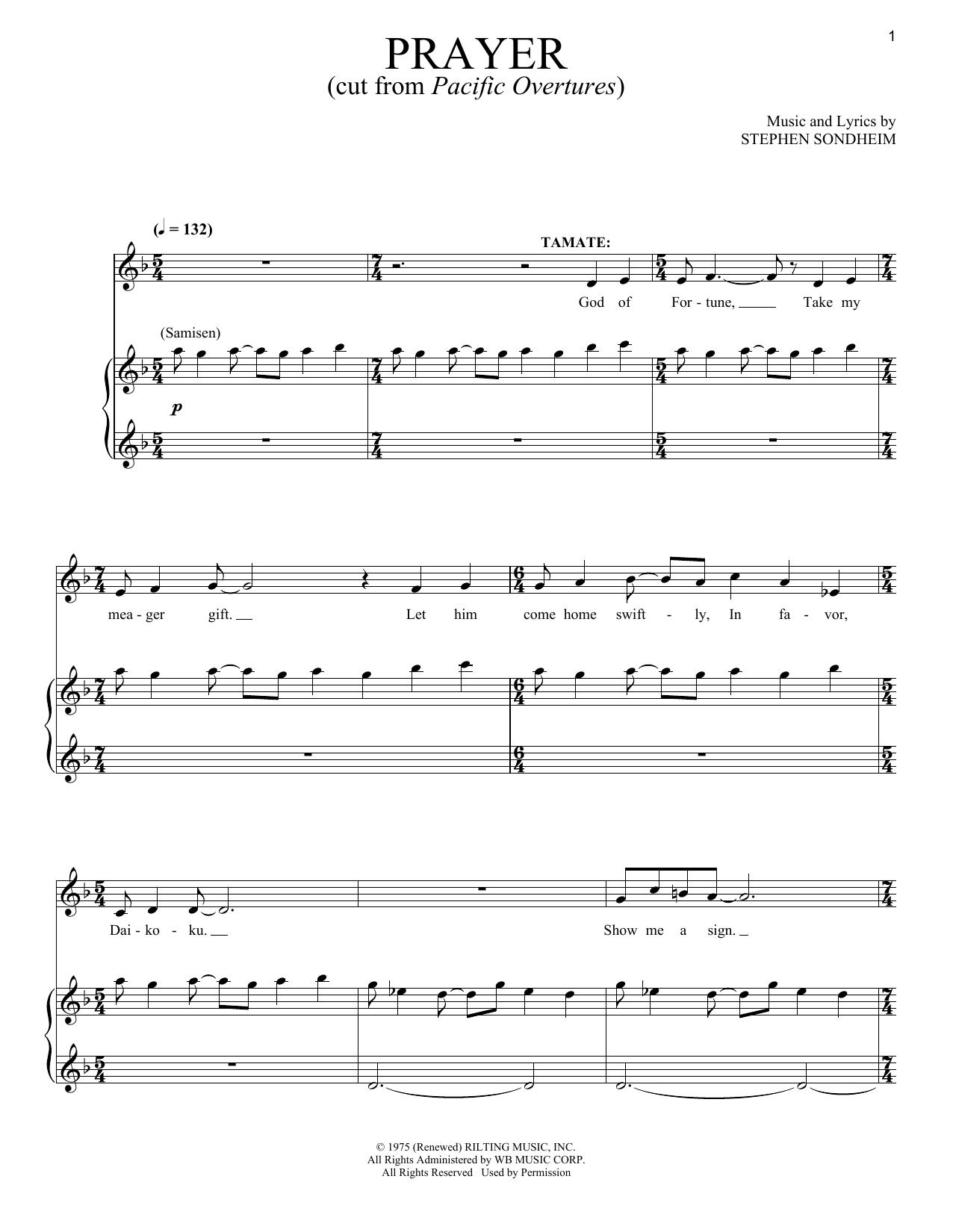 Prayers (Piano & Vocal)