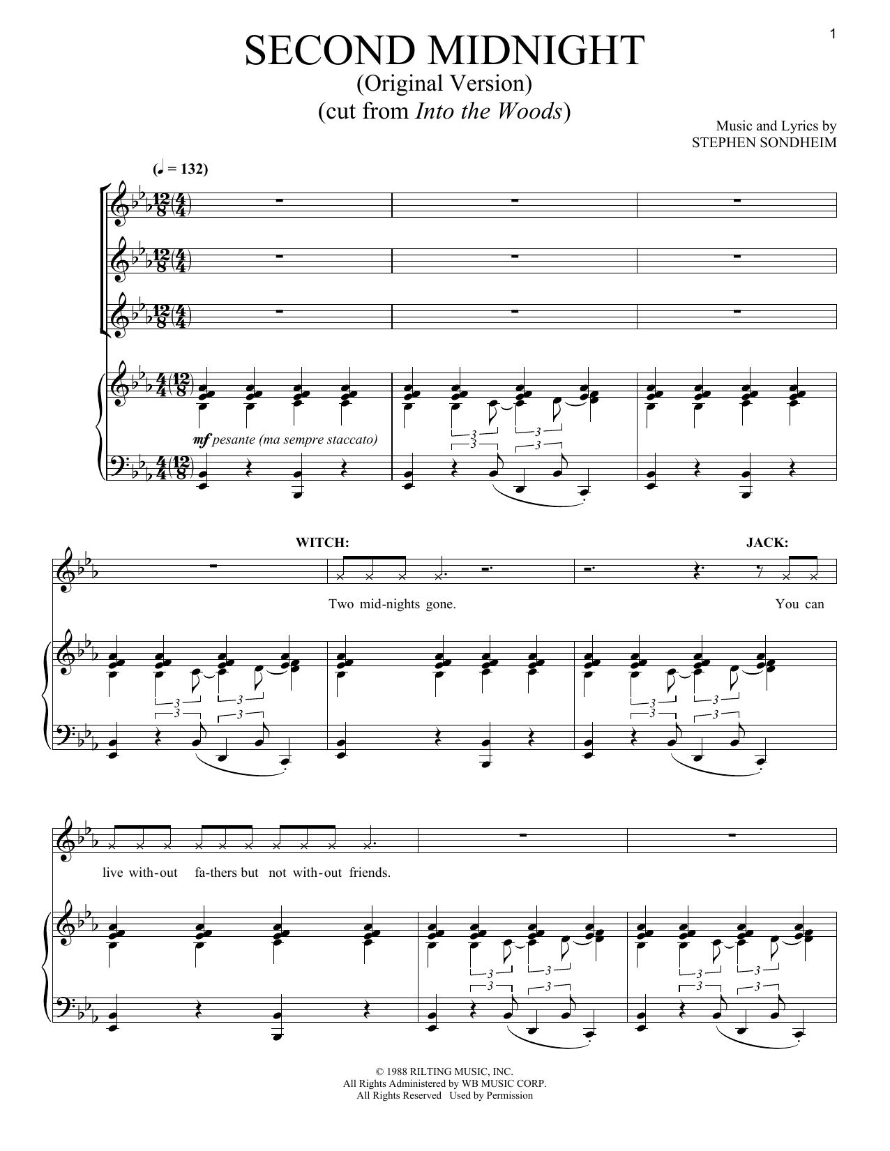 Second Midnight (Original Version) (Piano & Vocal)