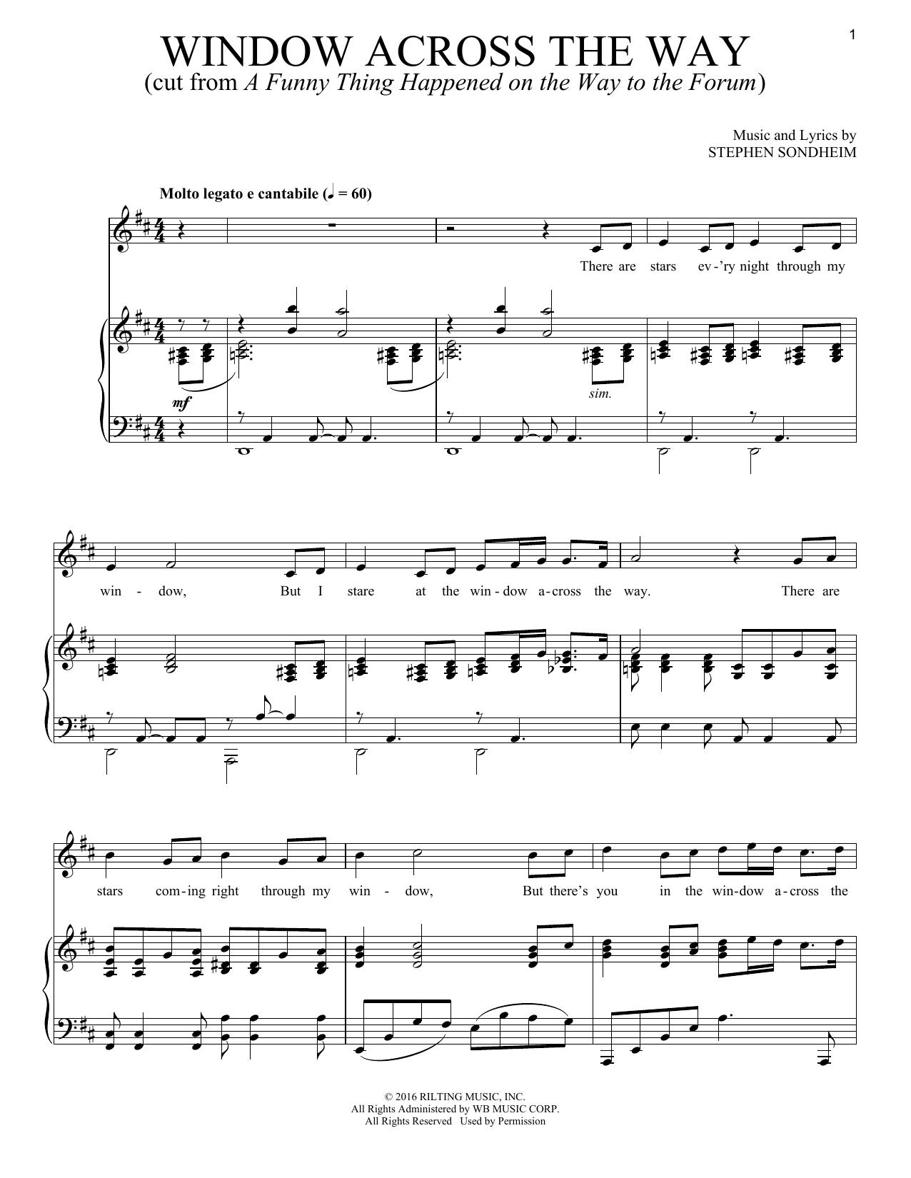 Window Across The Way (Piano & Vocal)