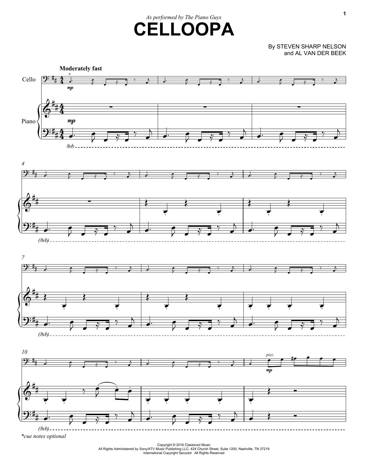 Celloopa Sheet Music