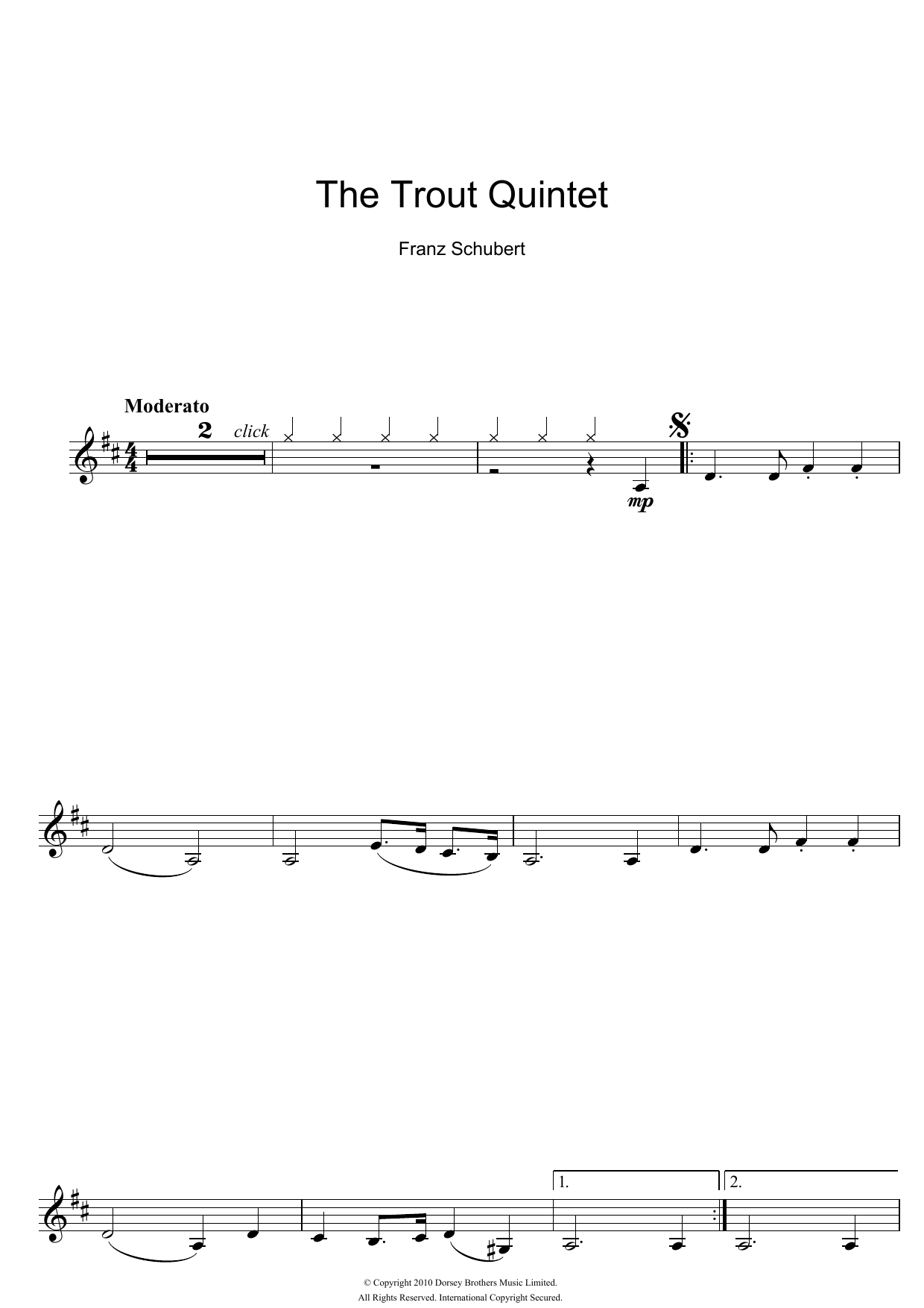 Theme From The Trout Quintet (Die Forelle) Partition Digitale