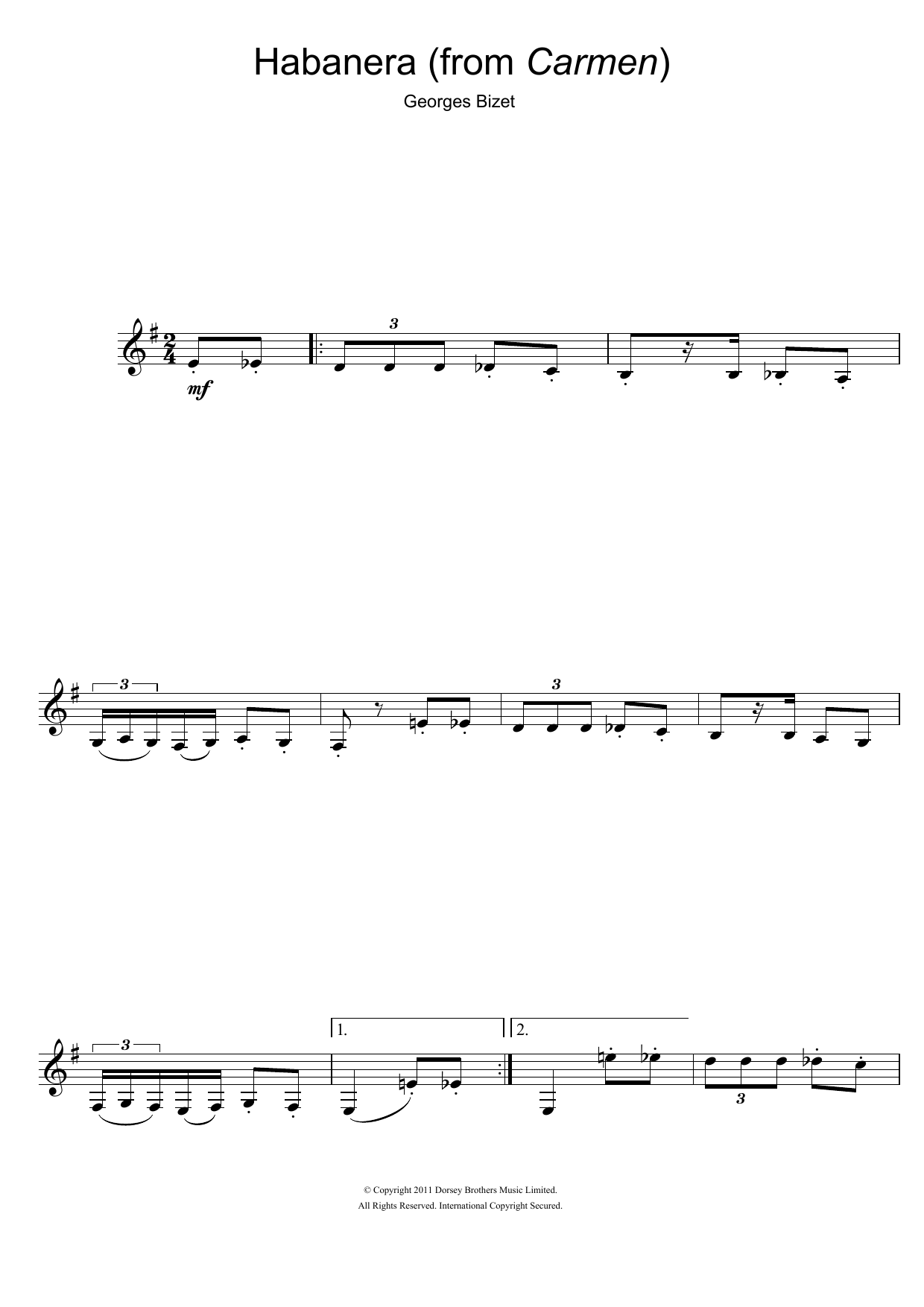 Habanera (from Carmen) Partition Digitale