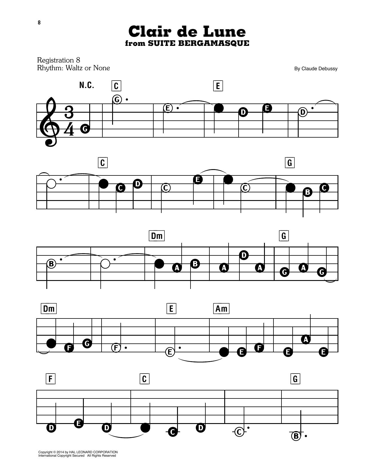 Clair De Lune (E-Z Play Today)