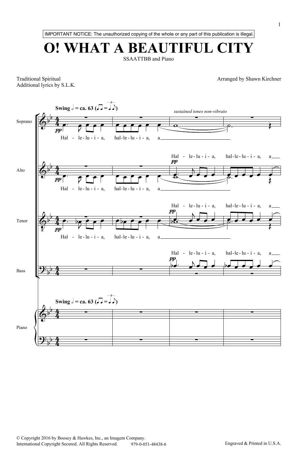O What A Beautiful City (SATB Choir)