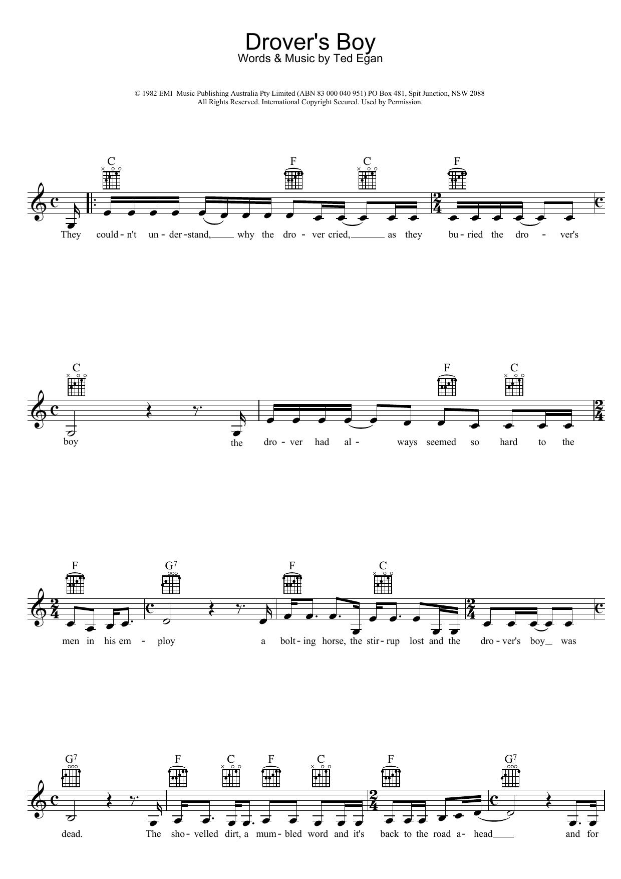 Drover's Boy Sheet Music