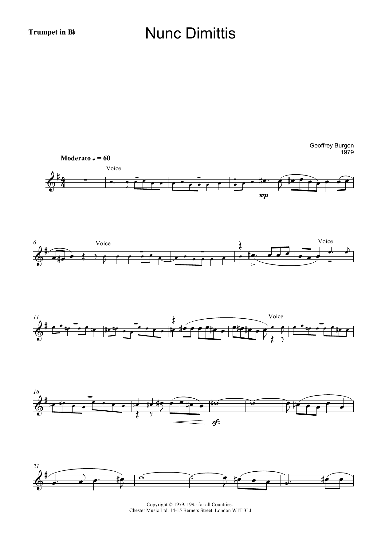Nunc Dimittis (theme from Tinker, Tailor, Soldier, Spy) (Lead Sheet / Fake Book)