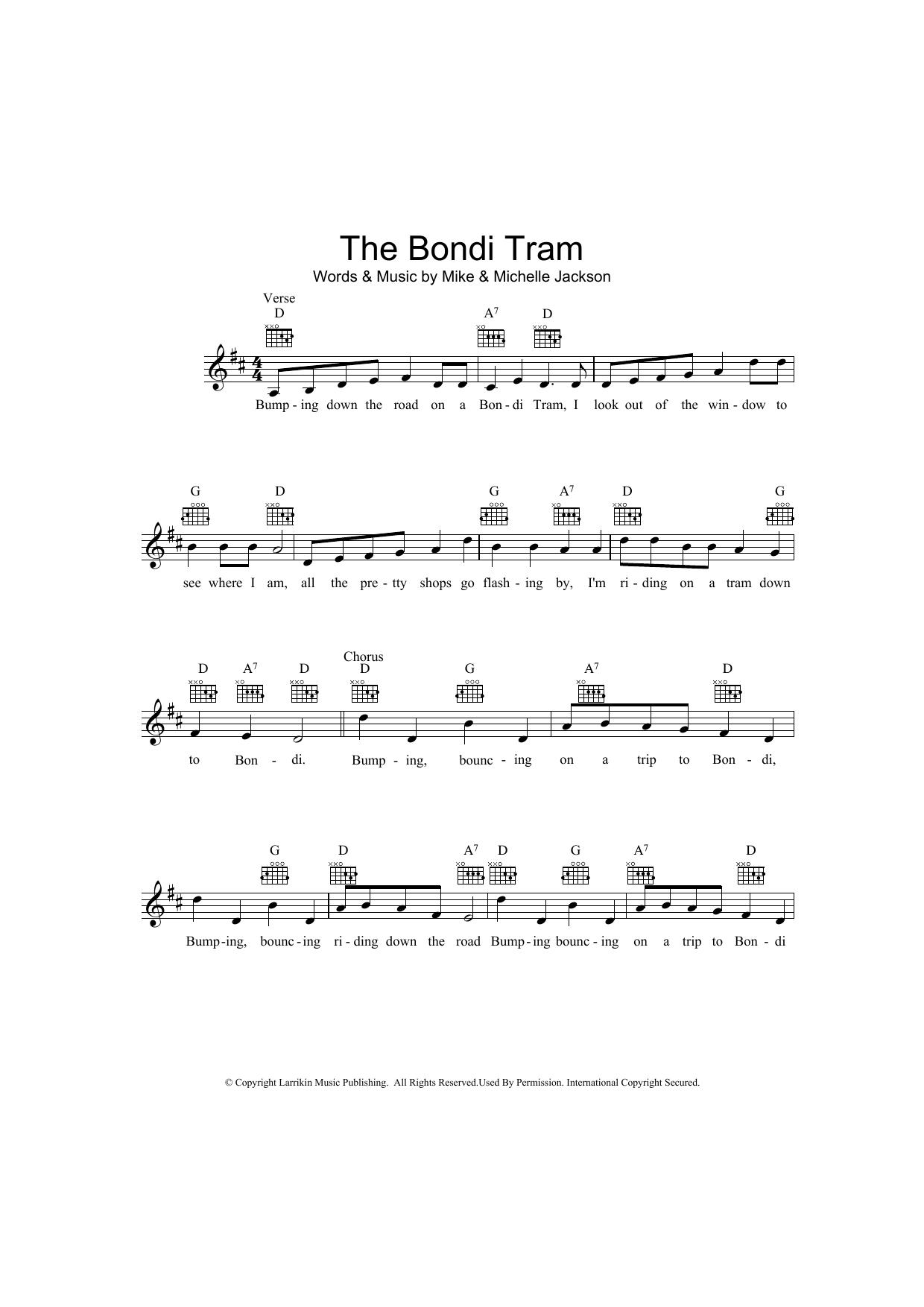 The Bondi Tram Sheet Music