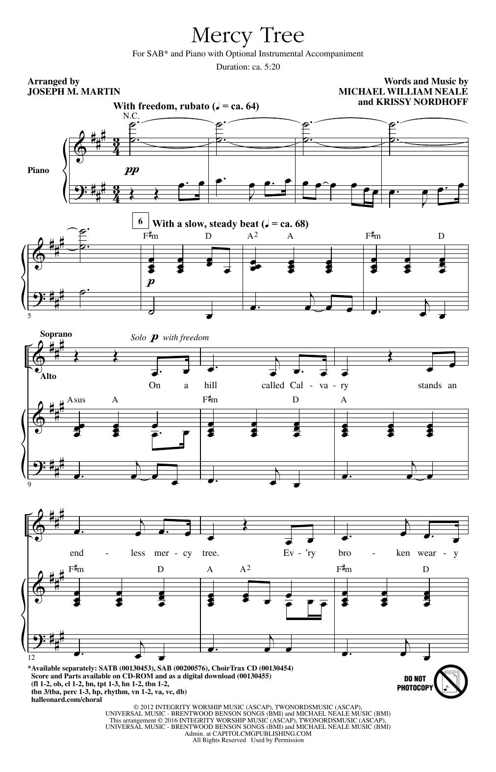 Mercy Tree (SAB Choir)