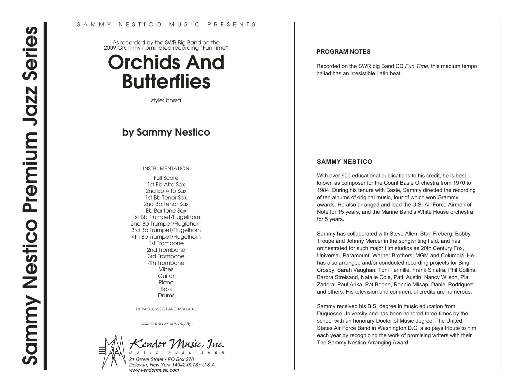Orchids And Butterflies - Full Score Sheet Music
