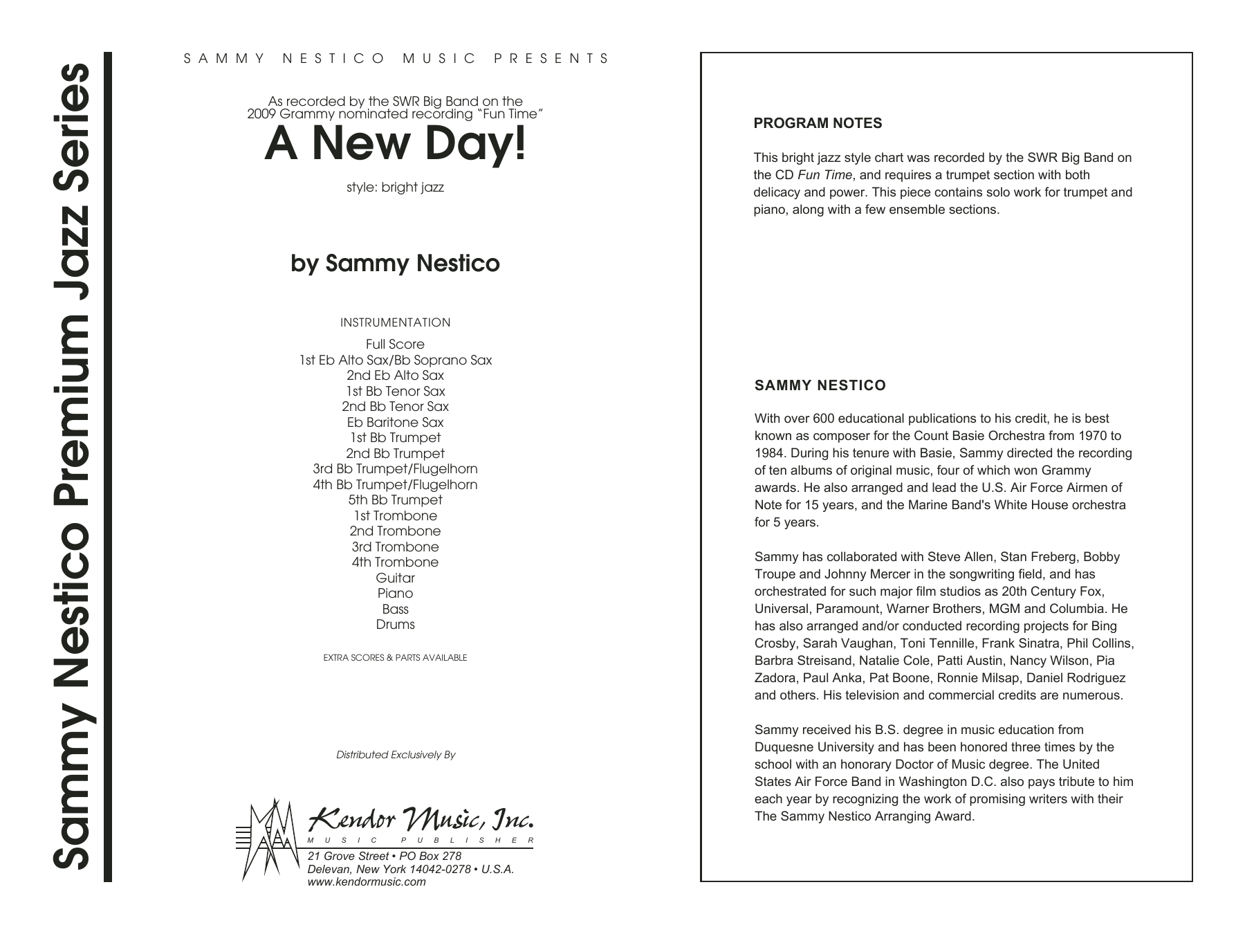 A New Day! - Full Score Sheet Music