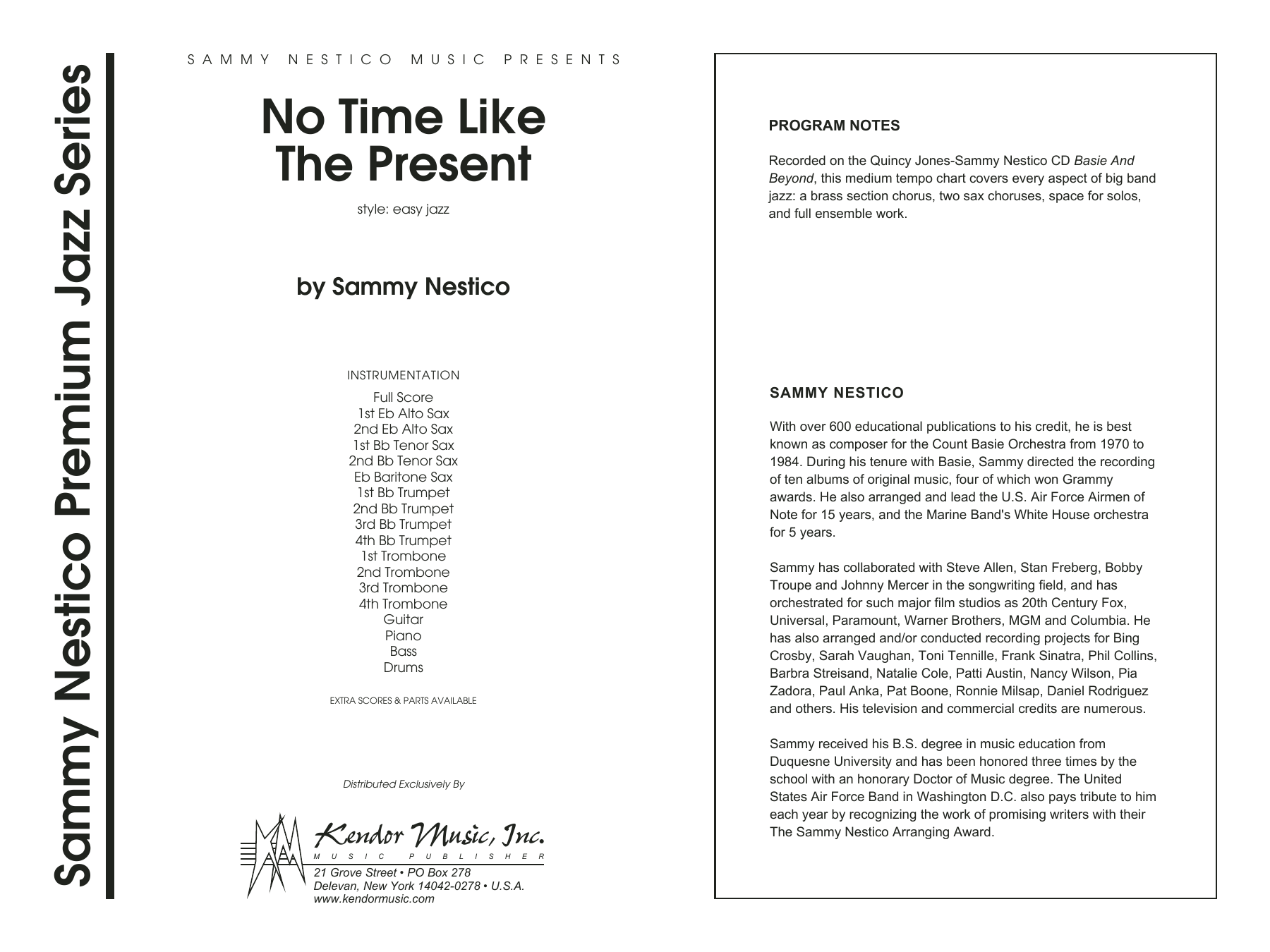 No Time Like The Present (COMPLETE) sheet music for jazz band by Sammy Nestico. Score Image Preview.