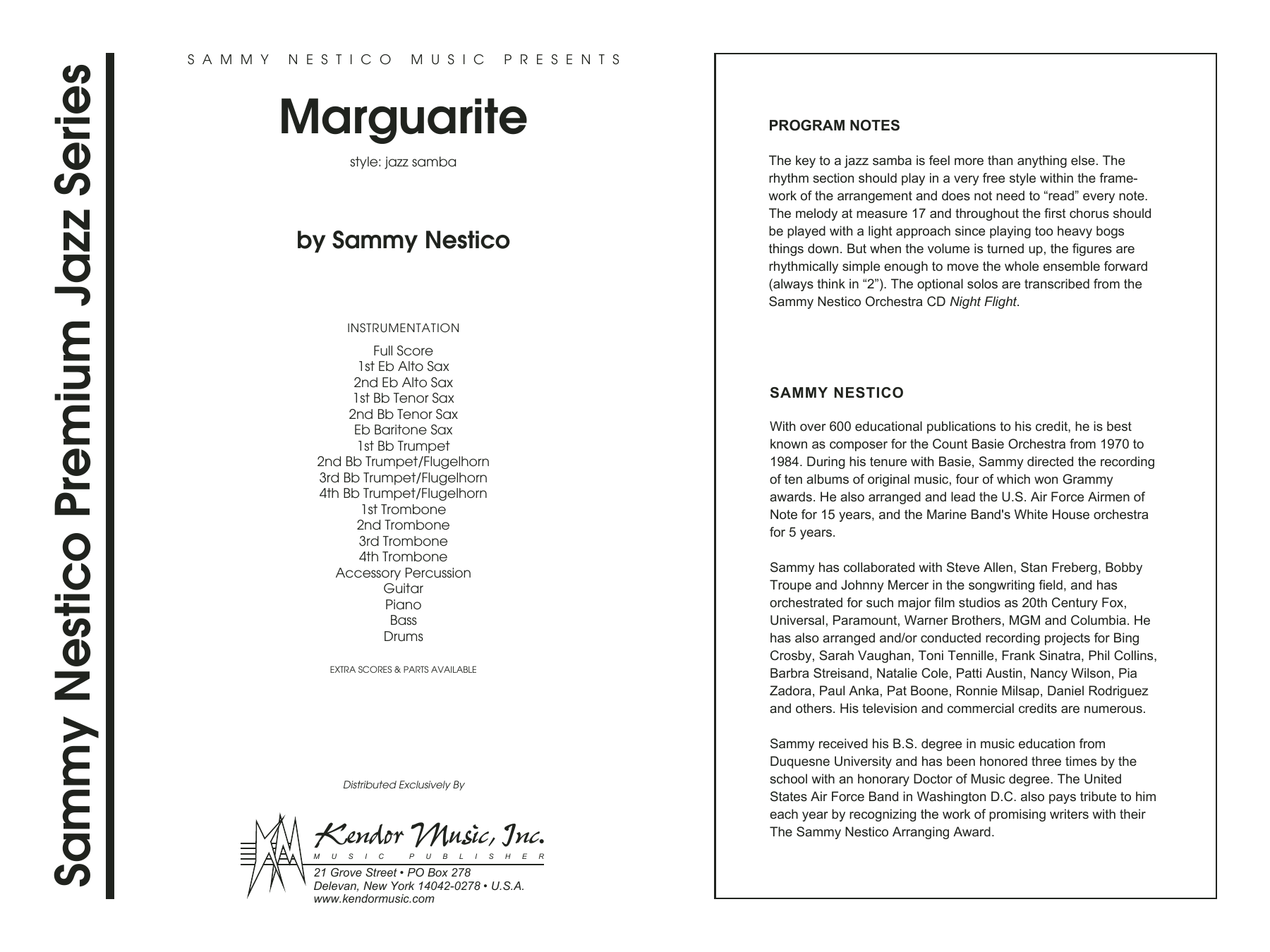 Marguarite (COMPLETE) sheet music for jazz band by Sammy Nestico. Score Image Preview.