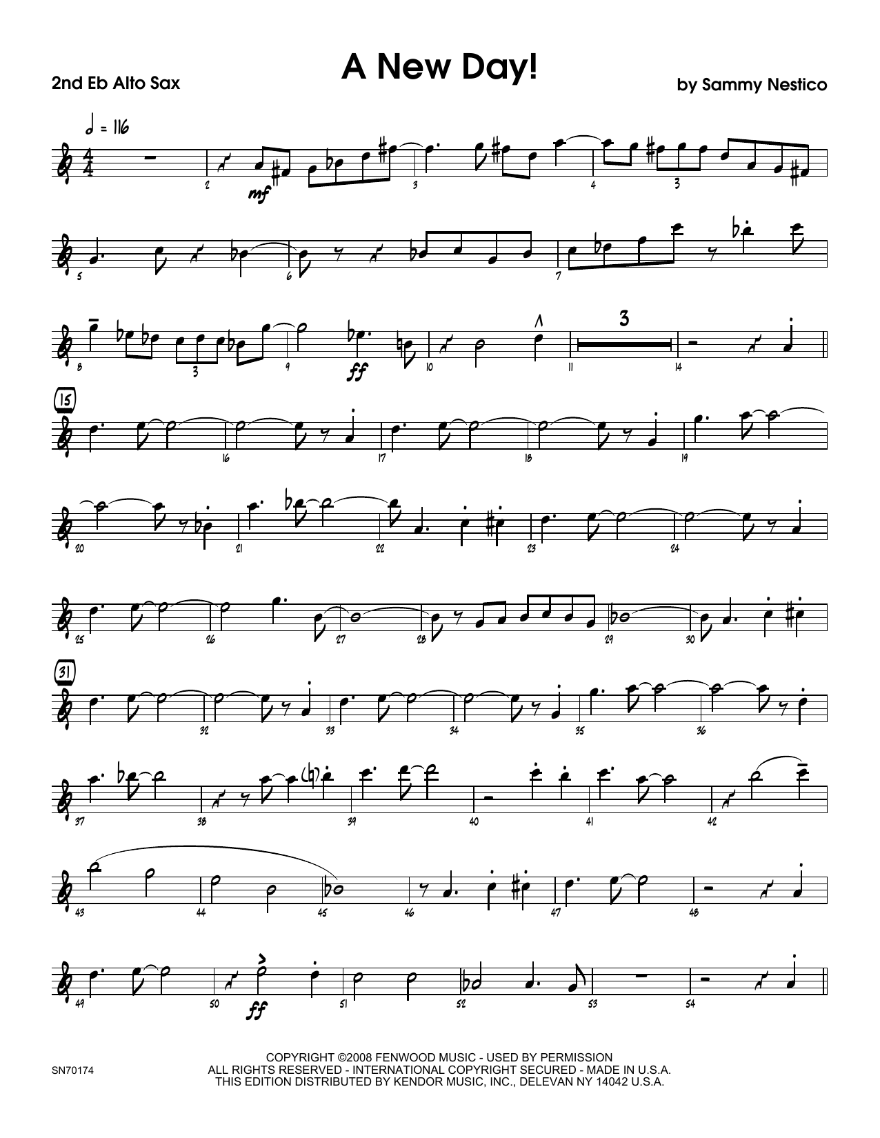 A New Day! - 2nd Eb Alto Saxophone Sheet Music