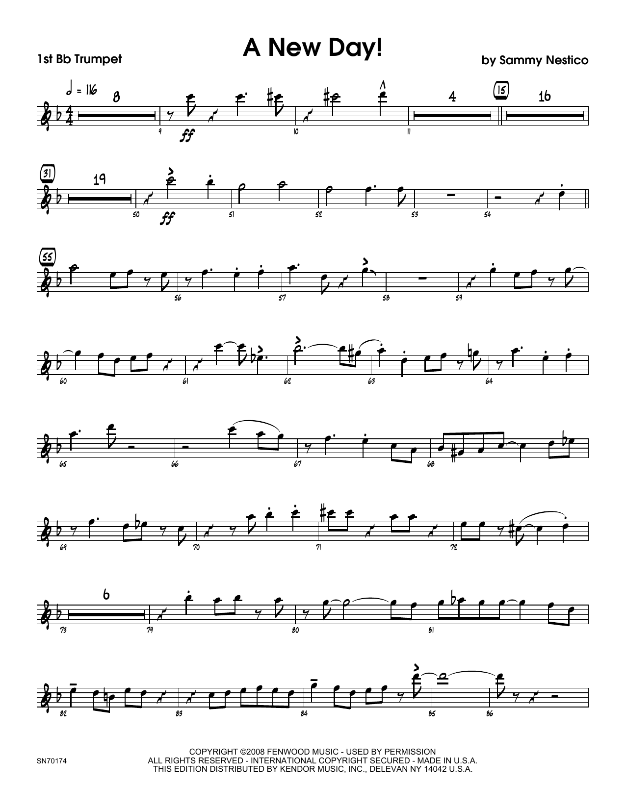 A New Day! - 1st Bb Trumpet Sheet Music