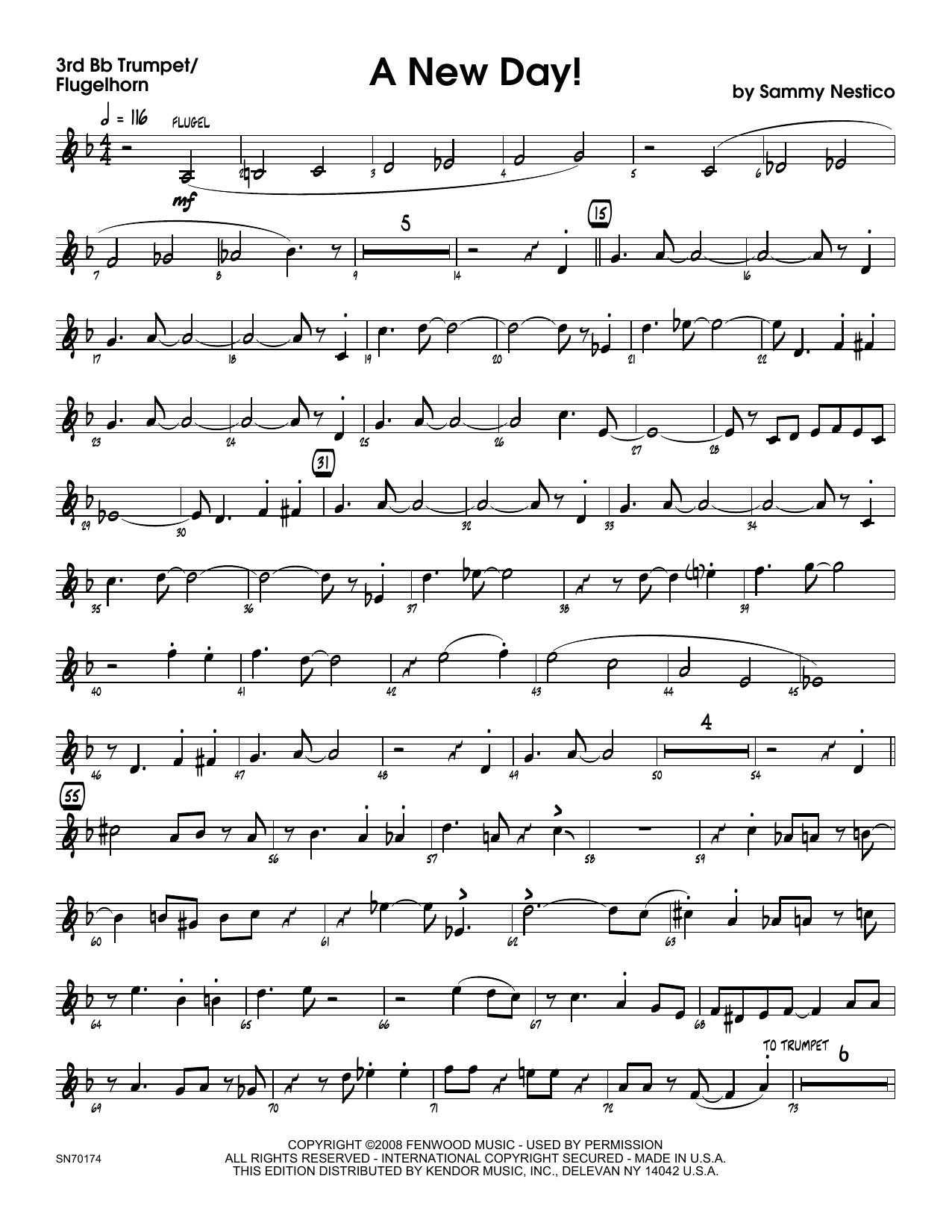 A New Day! - 3rd Bb Trumpet Sheet Music
