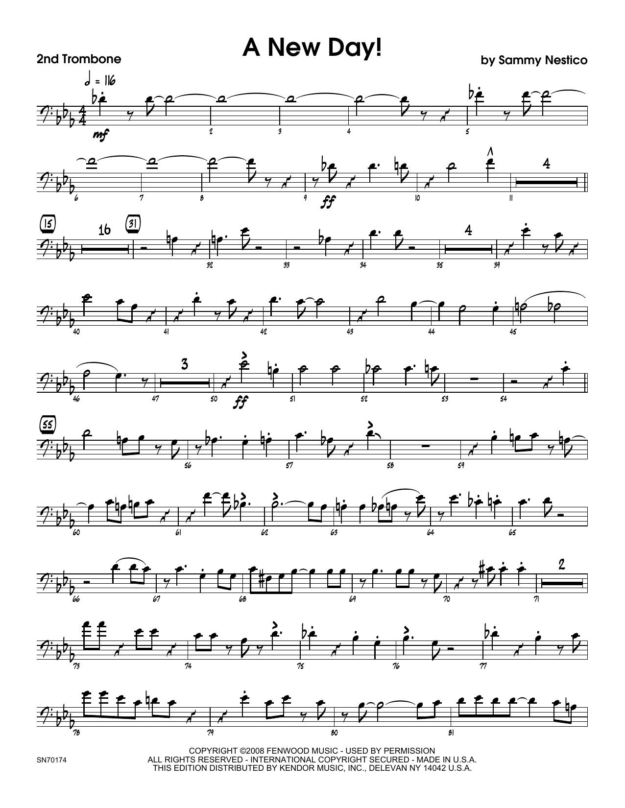 A New Day! - 2nd Trombone Sheet Music