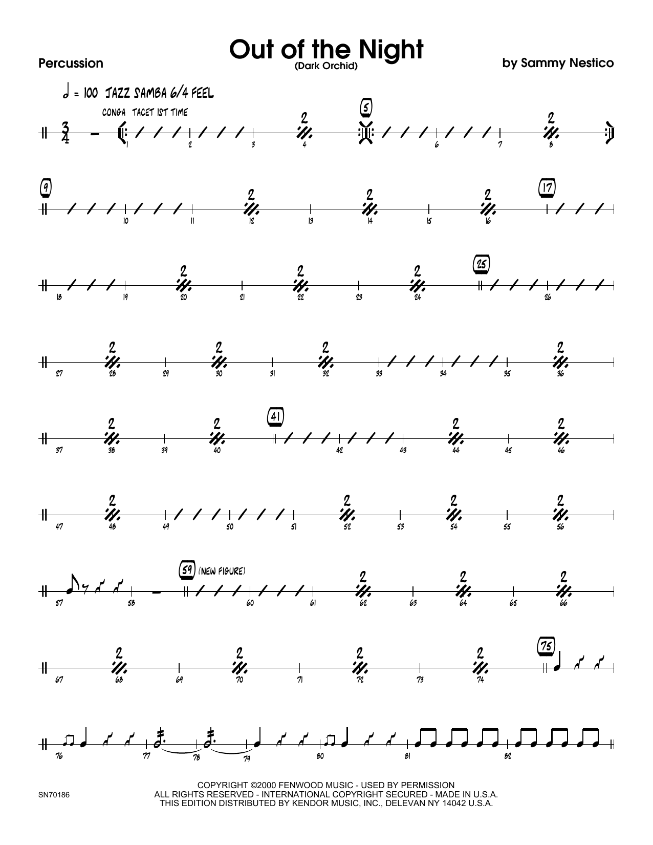 Out of the Night - Percussion Sheet Music