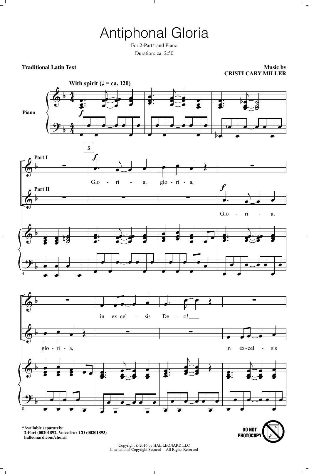 Antiphonal Gloria (2-Part Choir)