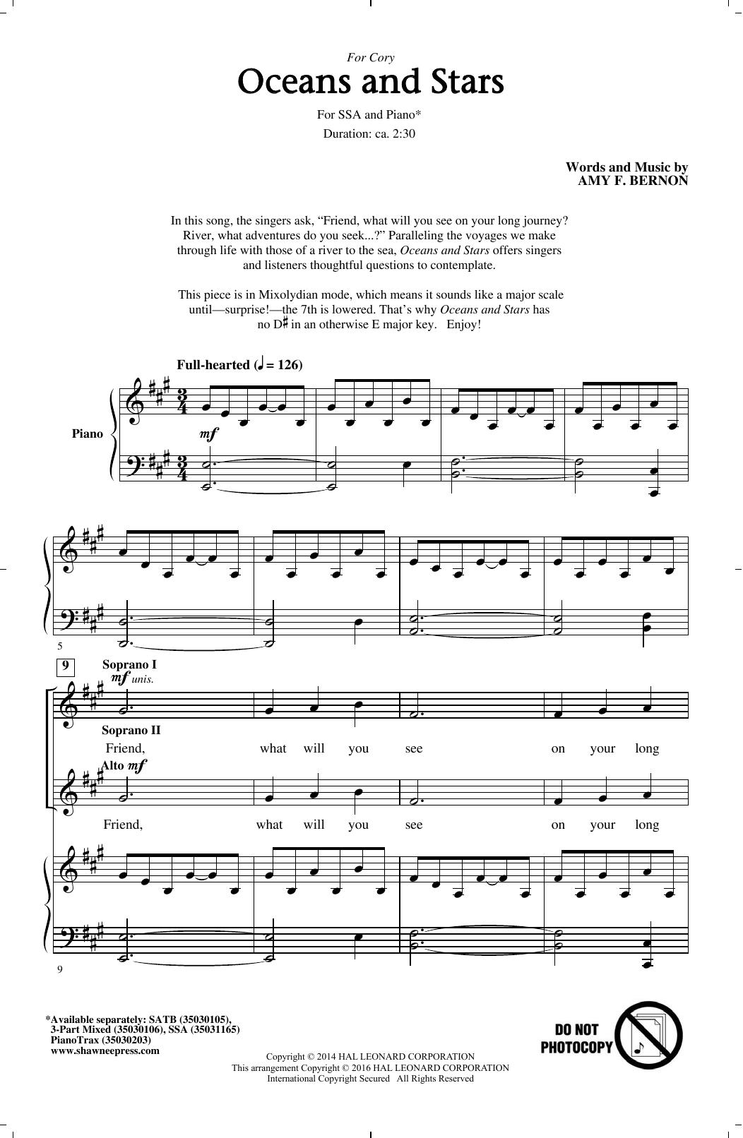 Oceans And Stars (SSA Choir)