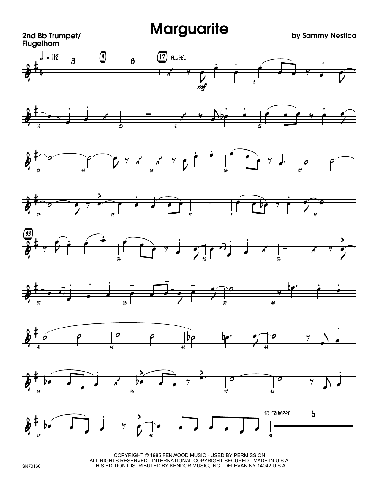 Marguarite - 2nd Bb Trumpet Sheet Music