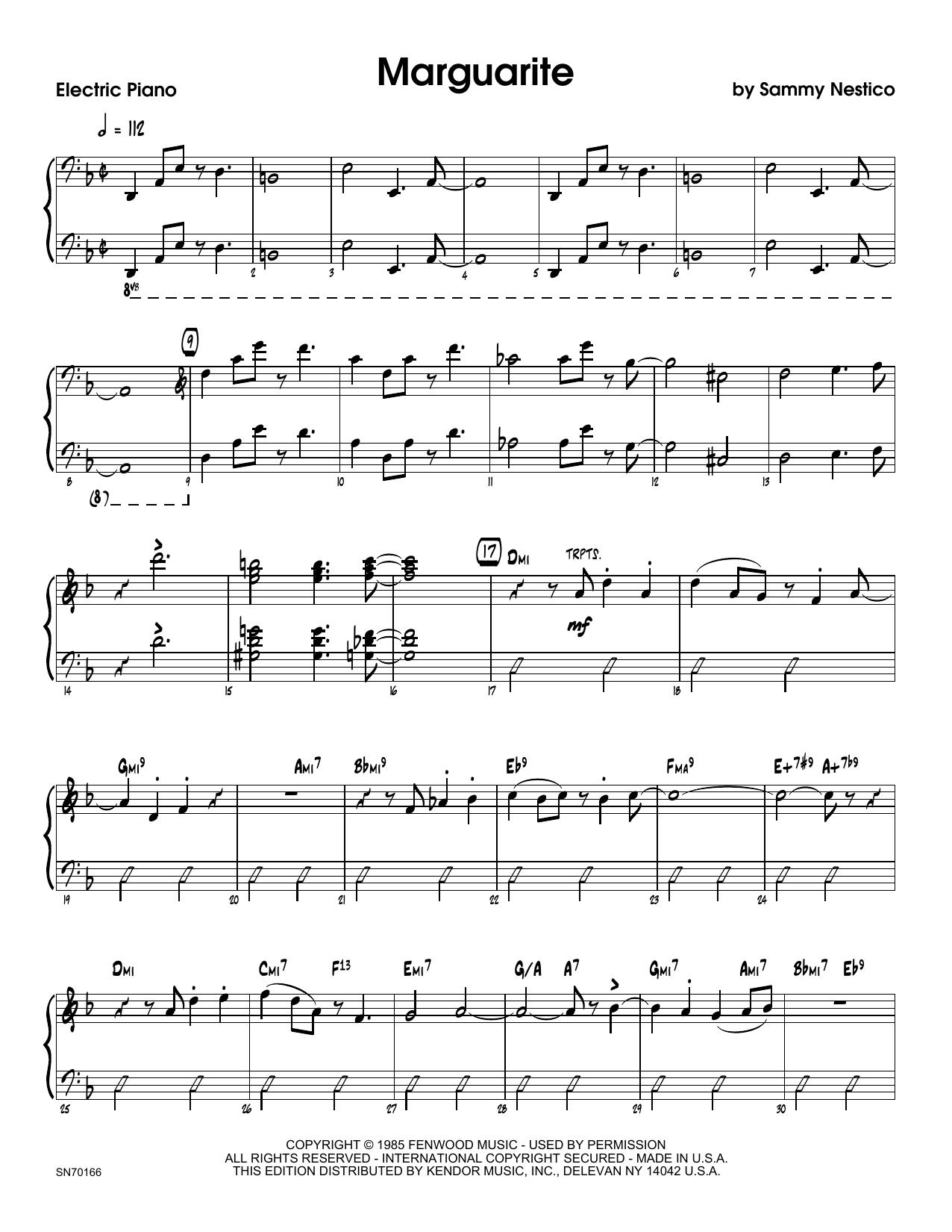 Marguarite - Piano Sheet Music