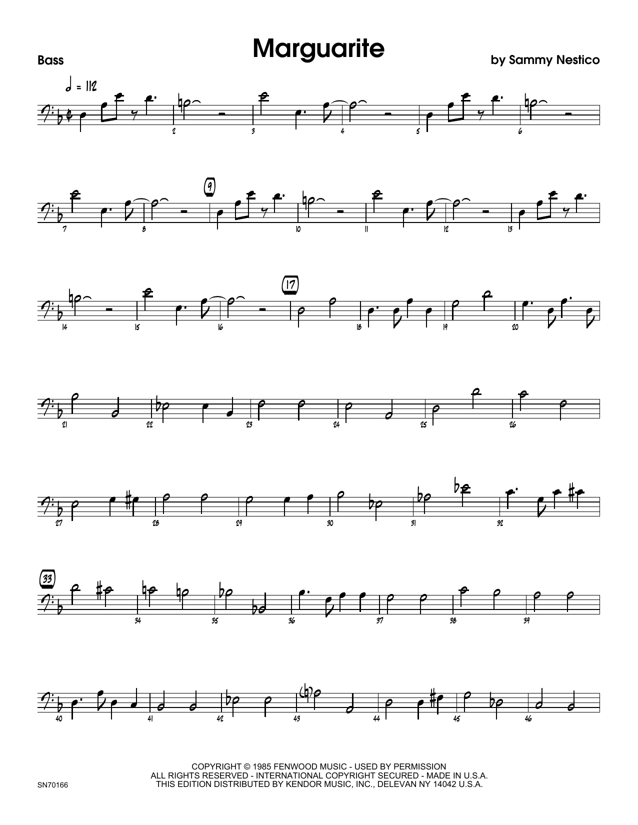 Marguarite - Bass Sheet Music