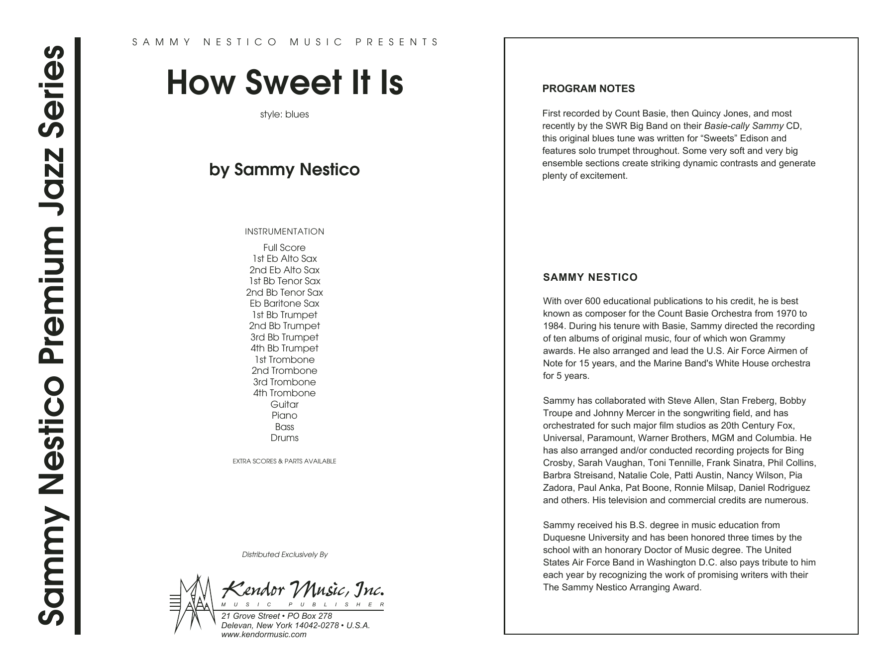 How Sweet It Is, complete collection (COMPLETE) sheet music for jazz band by Sammy Nestico. Score Image Preview.