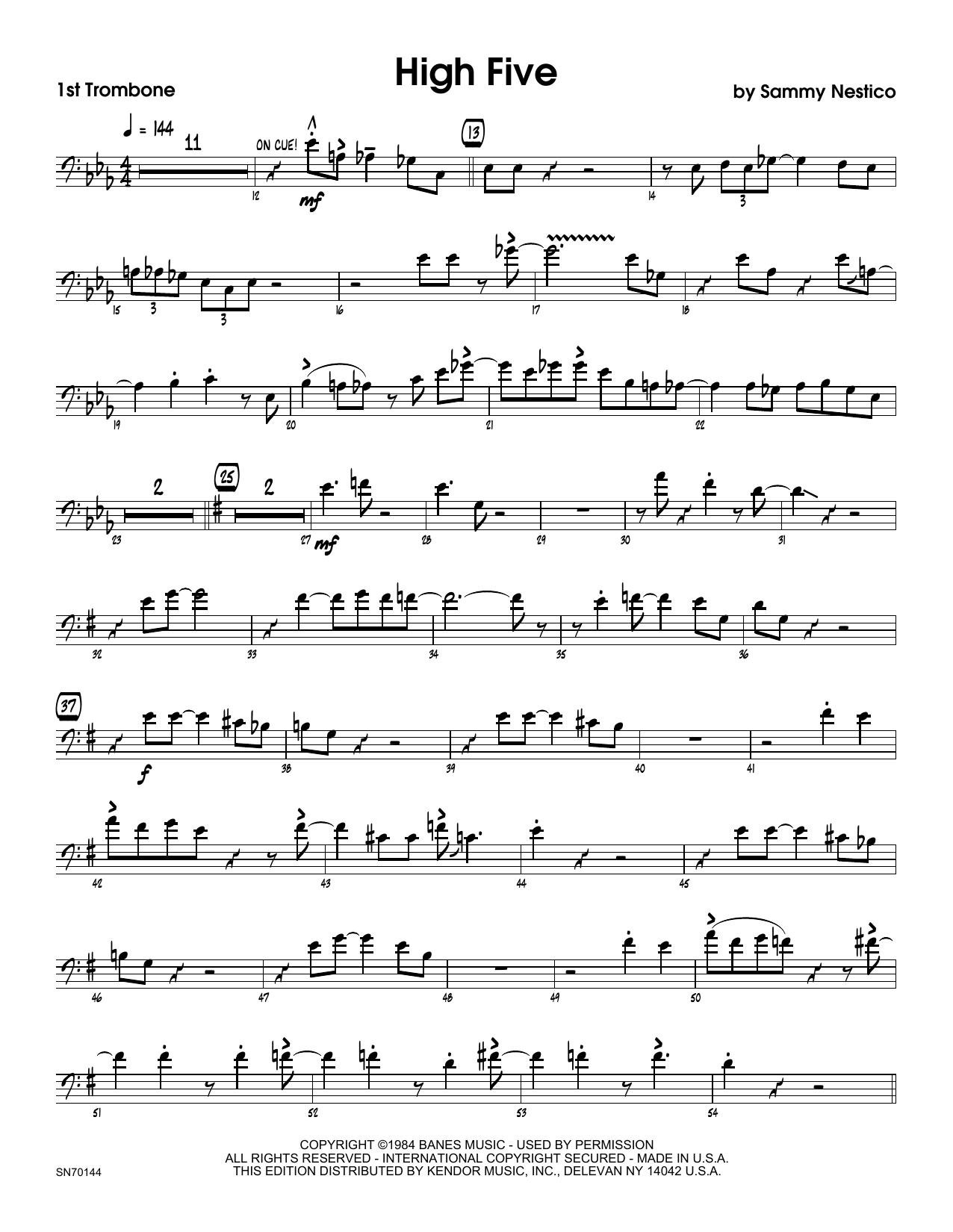 High Five - 1st Trombone Sheet Music