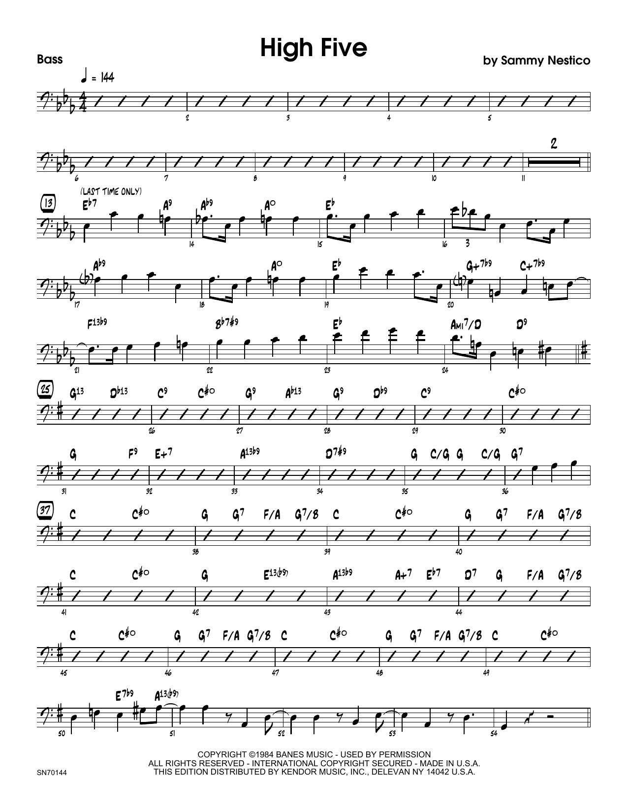 High Five - Bass Sheet Music