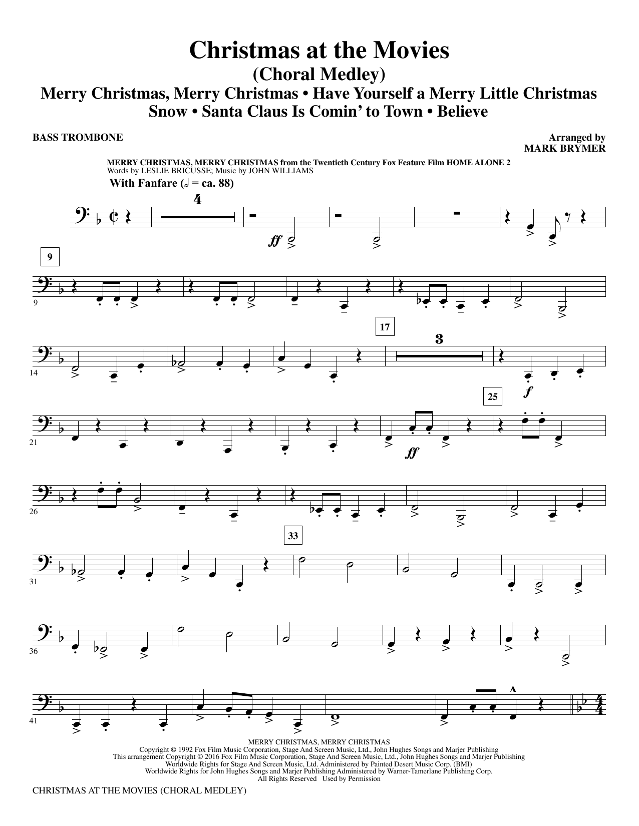 Christmas at the Movies - Bass Trombone Sheet Music
