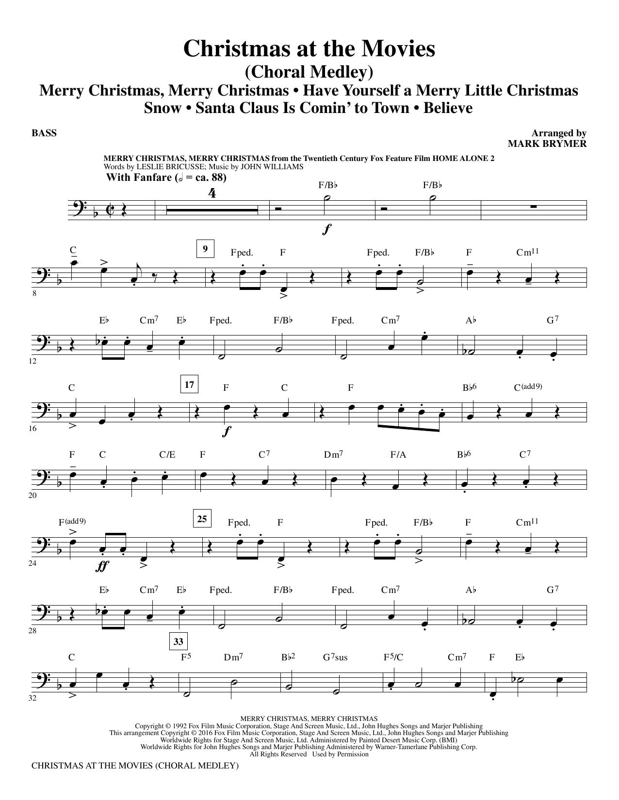 Christmas at the Movies - Bass (Choir Instrumental Pak)