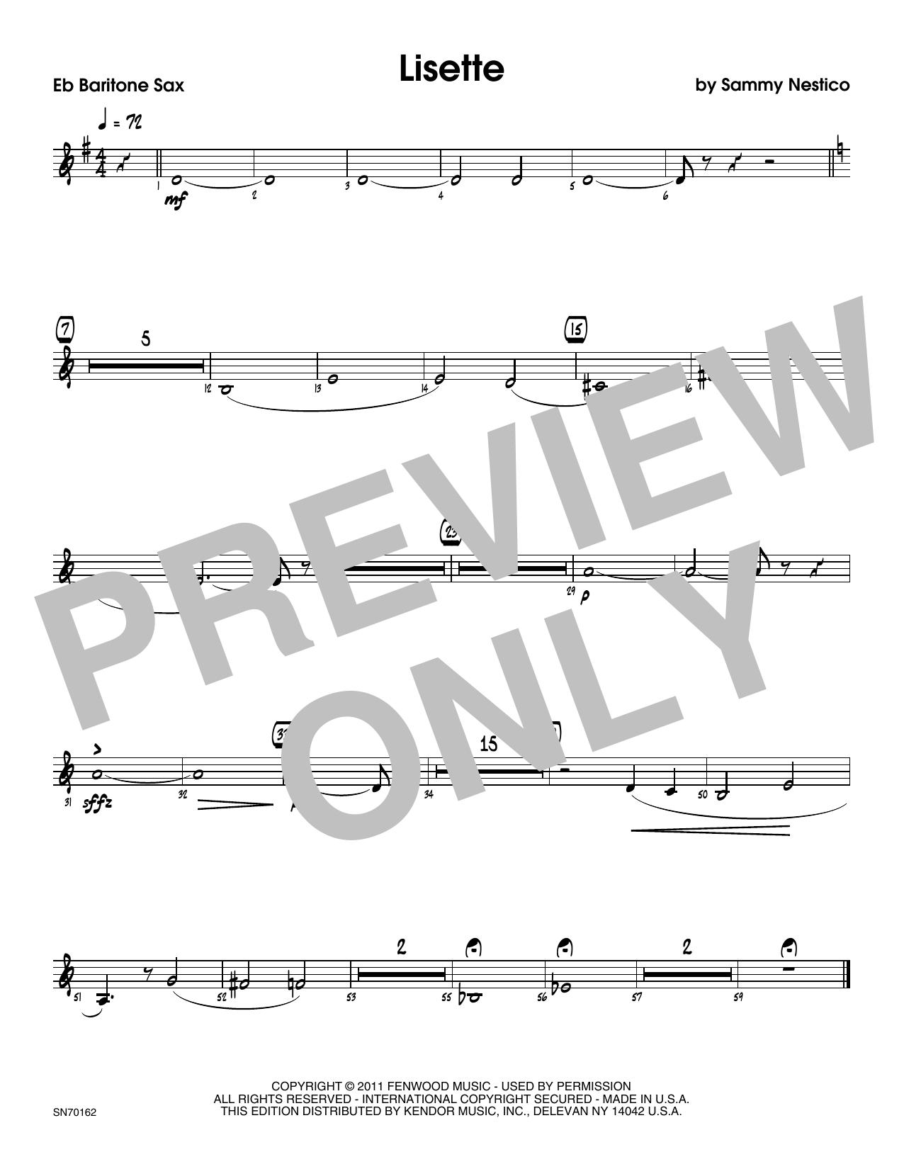 Lisette - Eb Baritone Saxophone Sheet Music