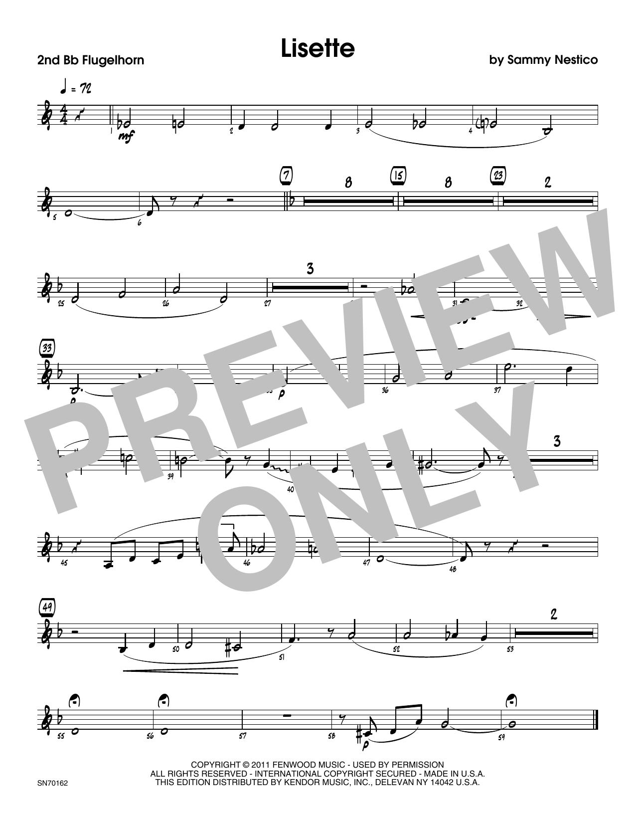Lisette - 2nd Bb Trumpet Sheet Music