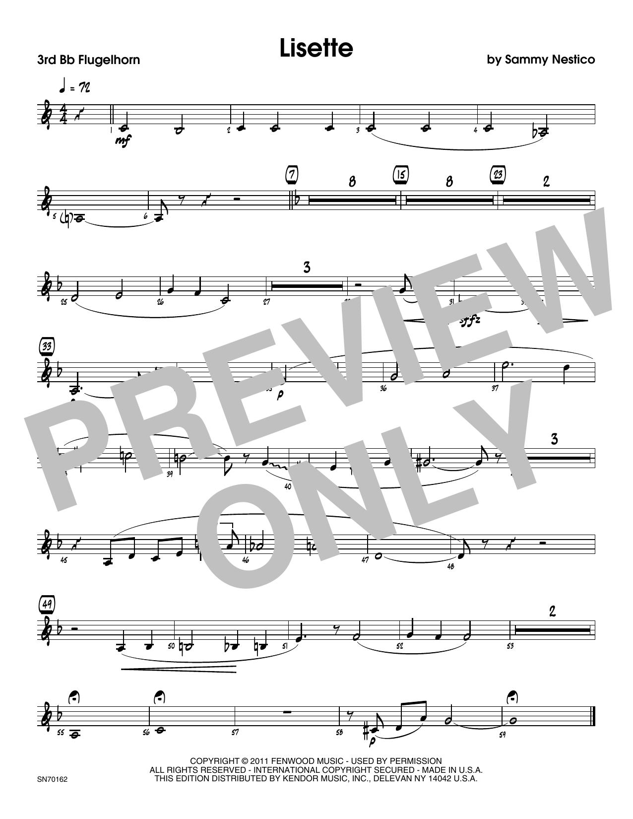 Lisette - 3rd Bb Trumpet Sheet Music
