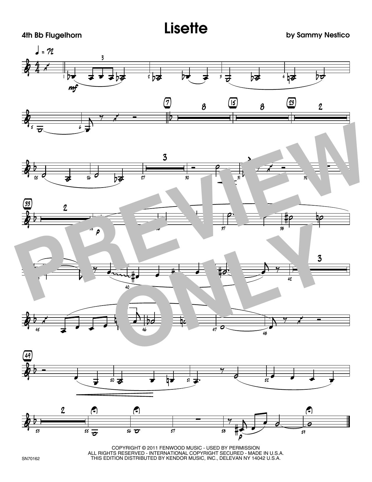 Lisette - 4th Bb Trumpet Sheet Music