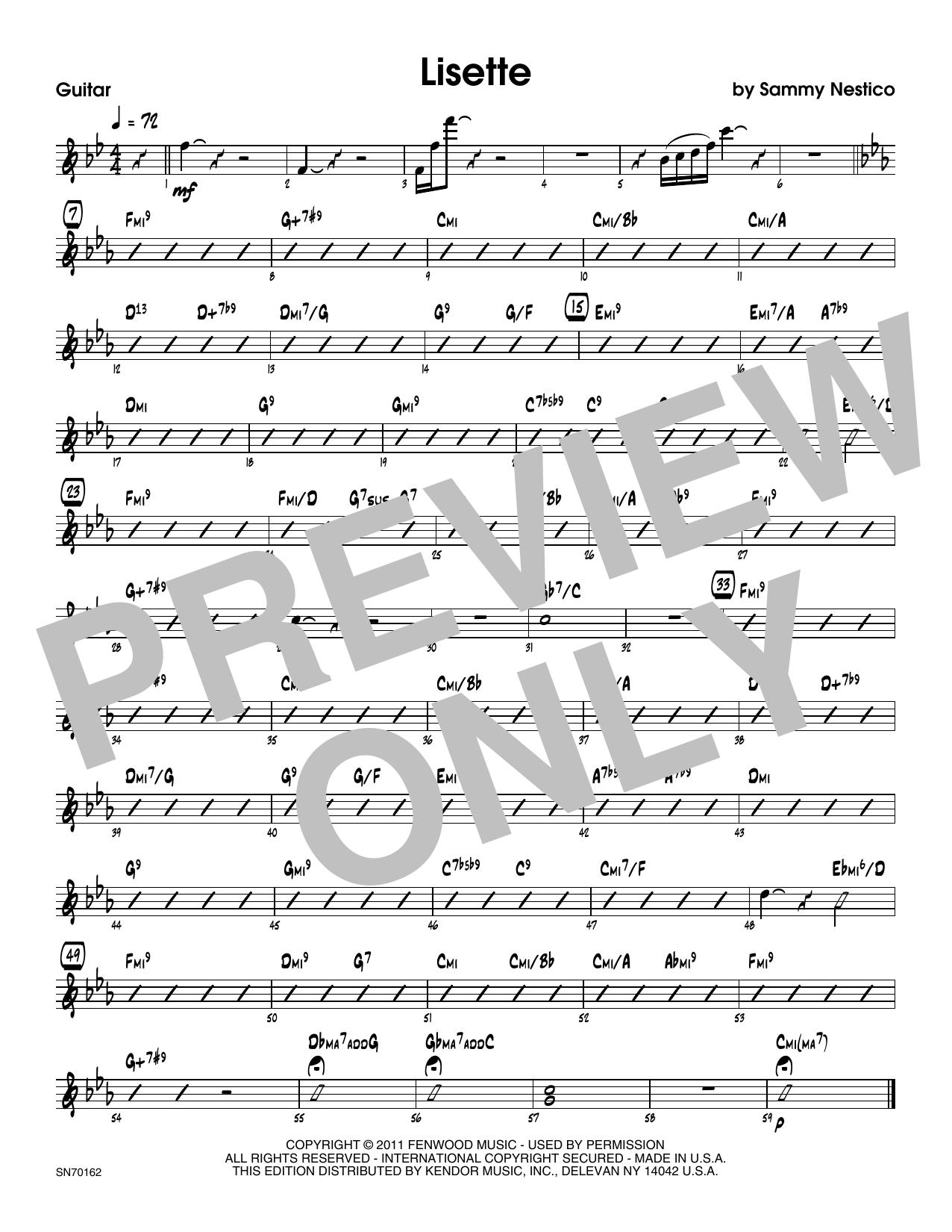Lisette - Guitar Sheet Music
