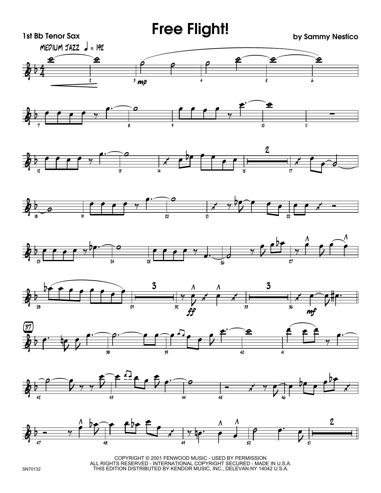 Free Flight! - 1st Tenor Saxophone Sheet Music