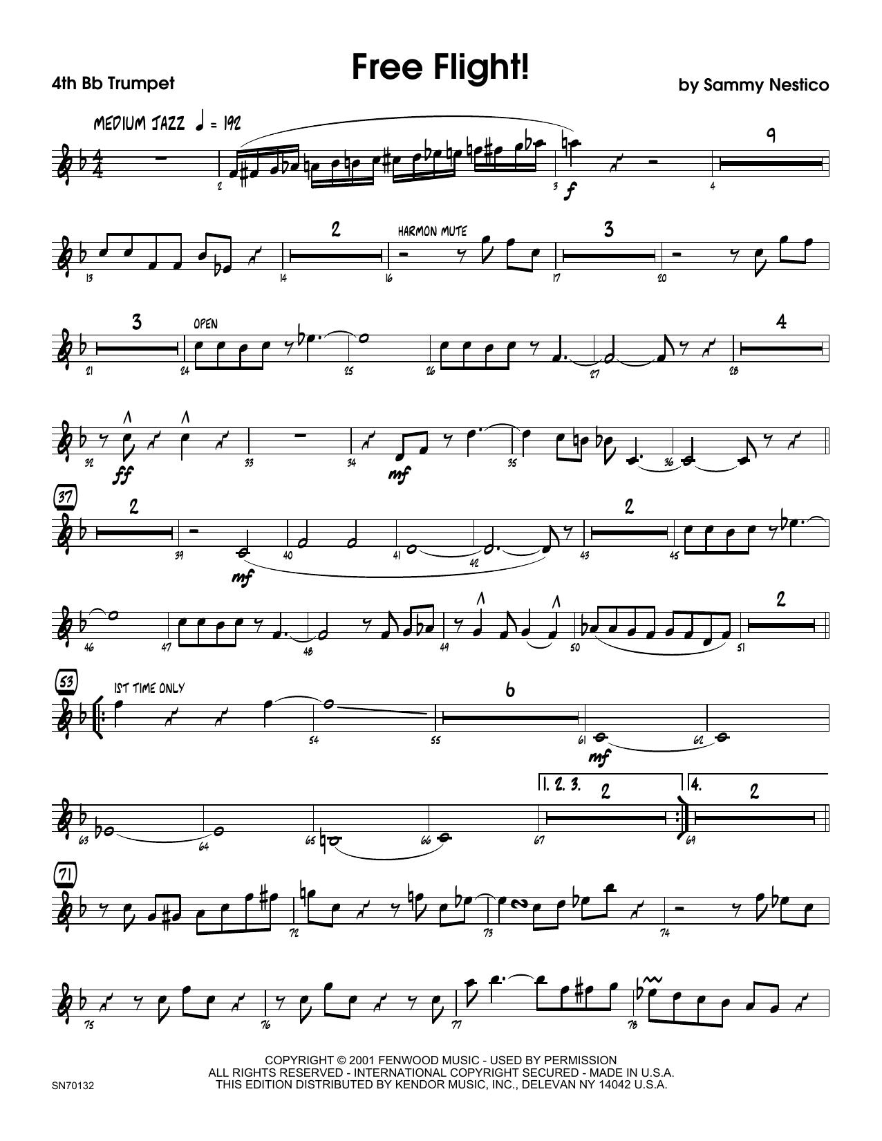 Free Flight! - 4th Bb Trumpet Sheet Music