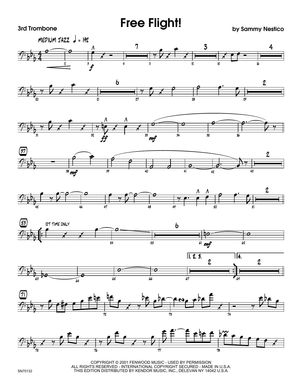 Free Flight! - 3rd Trombone Sheet Music