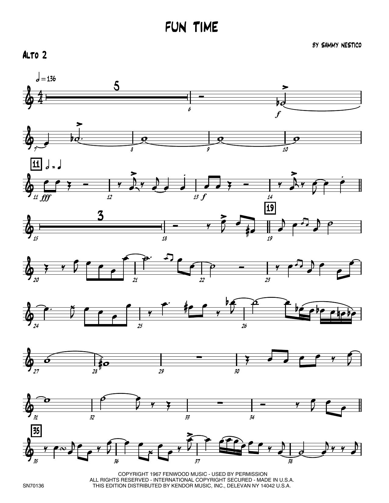 Fun Time - 2nd Eb Alto Saxophone Sheet Music