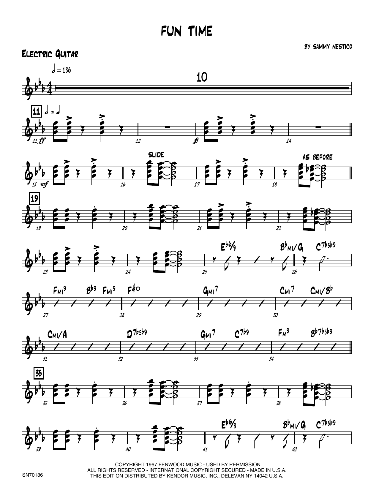 Fun Time - Guitar Sheet Music