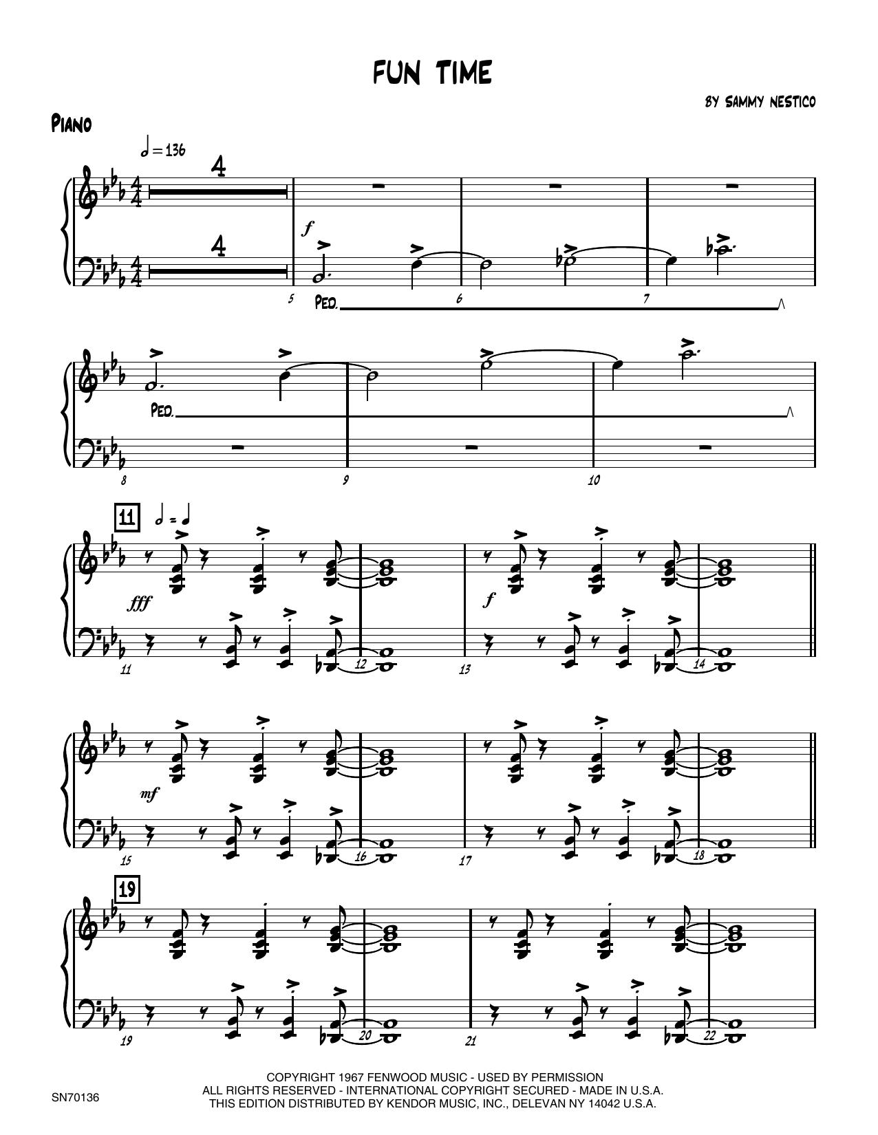 Fun Time - Piano Sheet Music