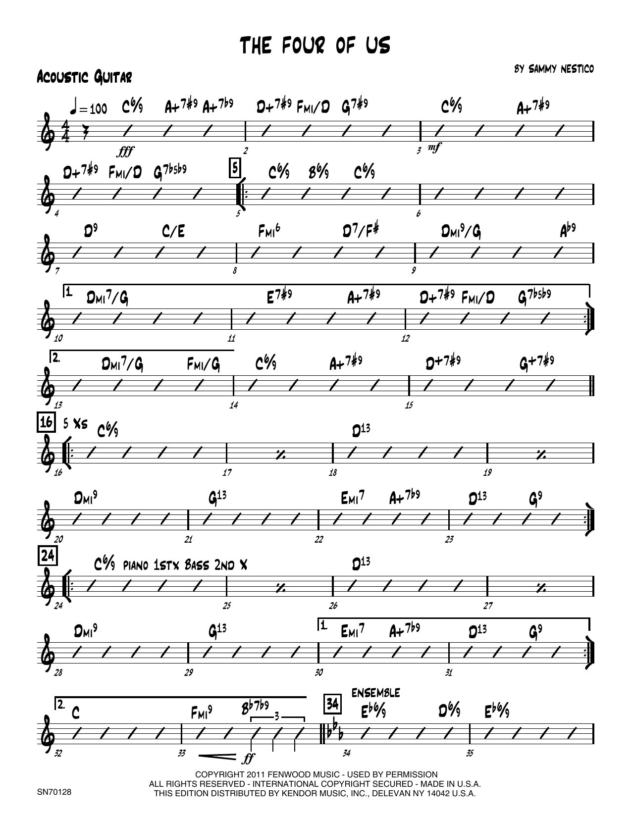 The Four Of Us - Guitar Sheet Music