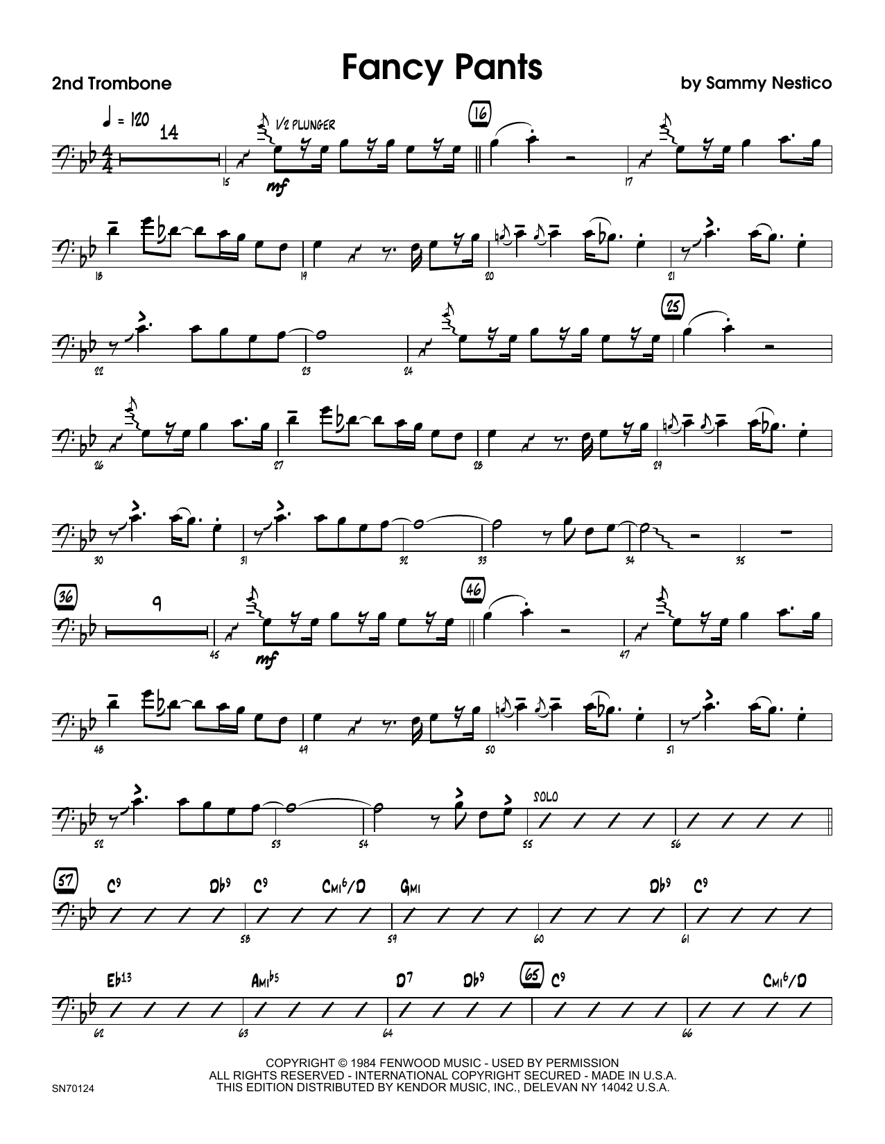 Fancy Pants - 2nd Trombone Sheet Music