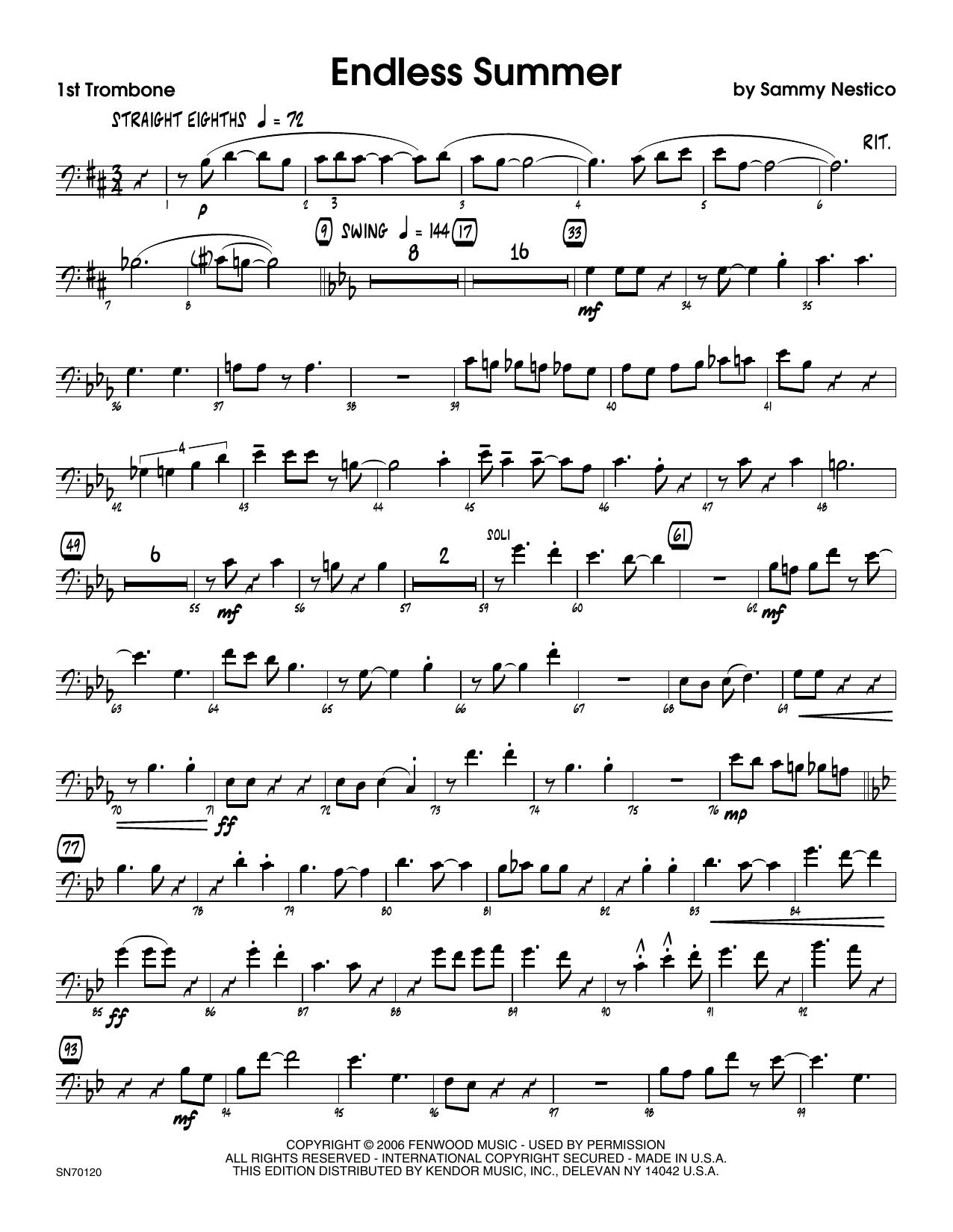 Endless Summer - 1st Trombone Sheet Music