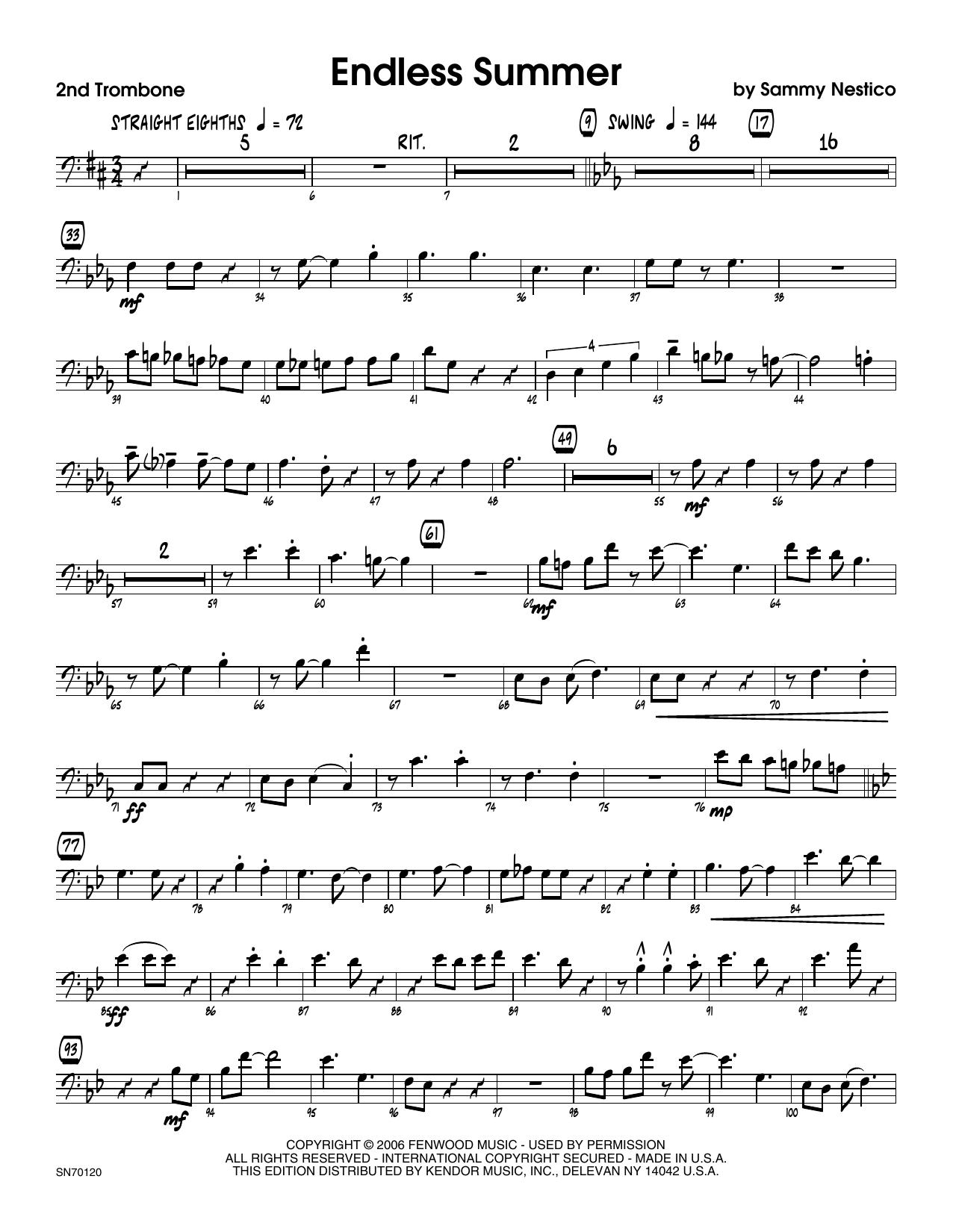 Endless Summer - 2nd Trombone Sheet Music