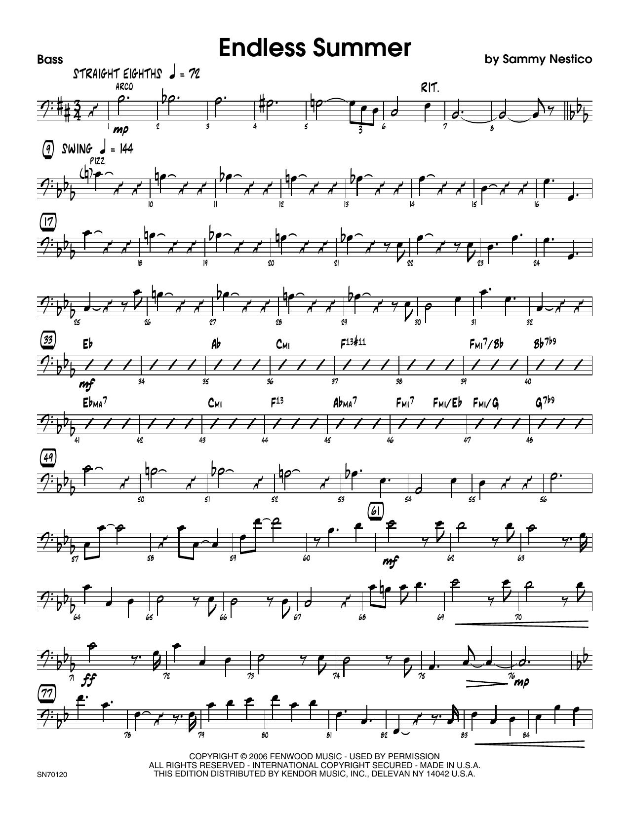Endless Summer - Bass Sheet Music