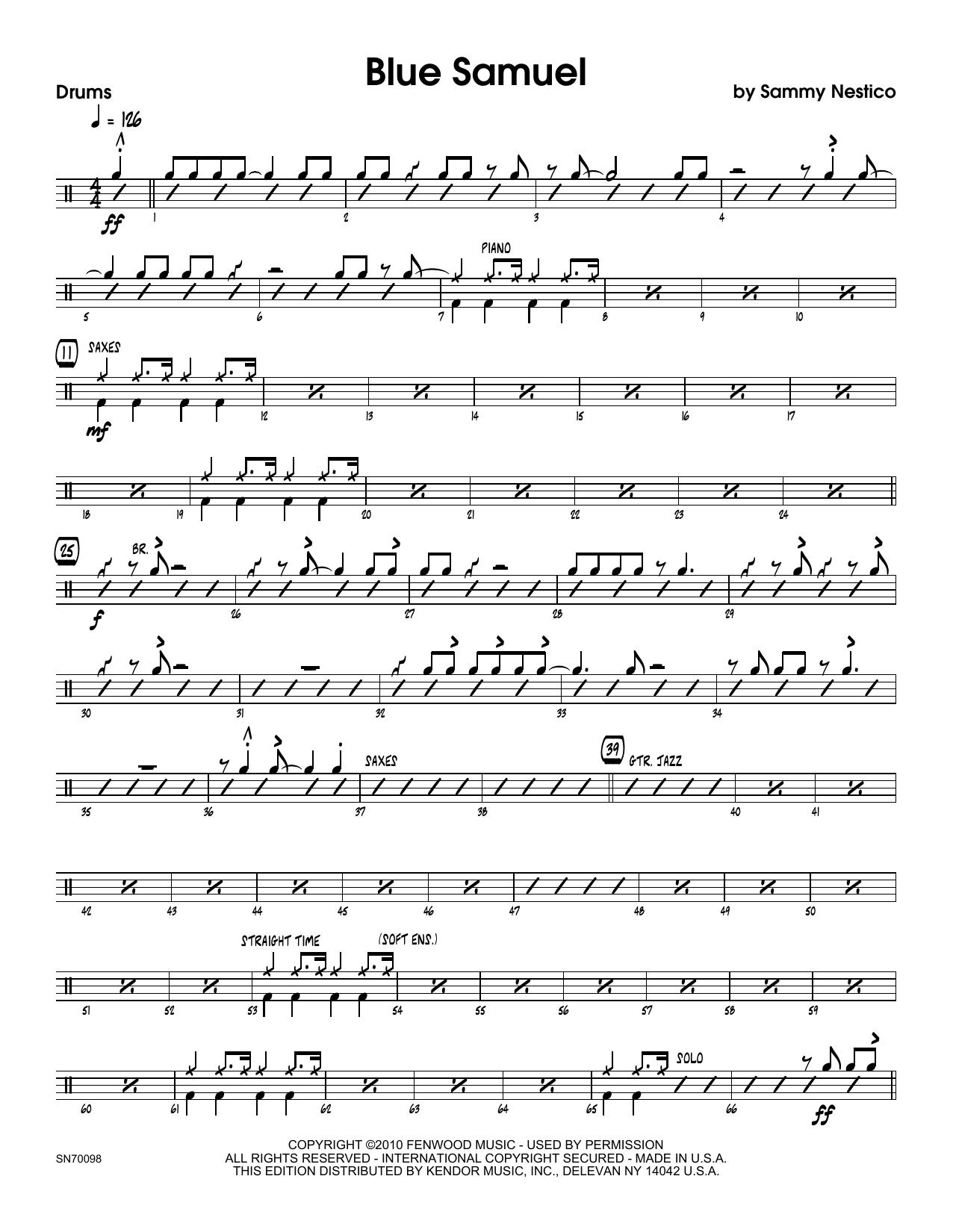 Blue Samuel - Drum Set Sheet Music